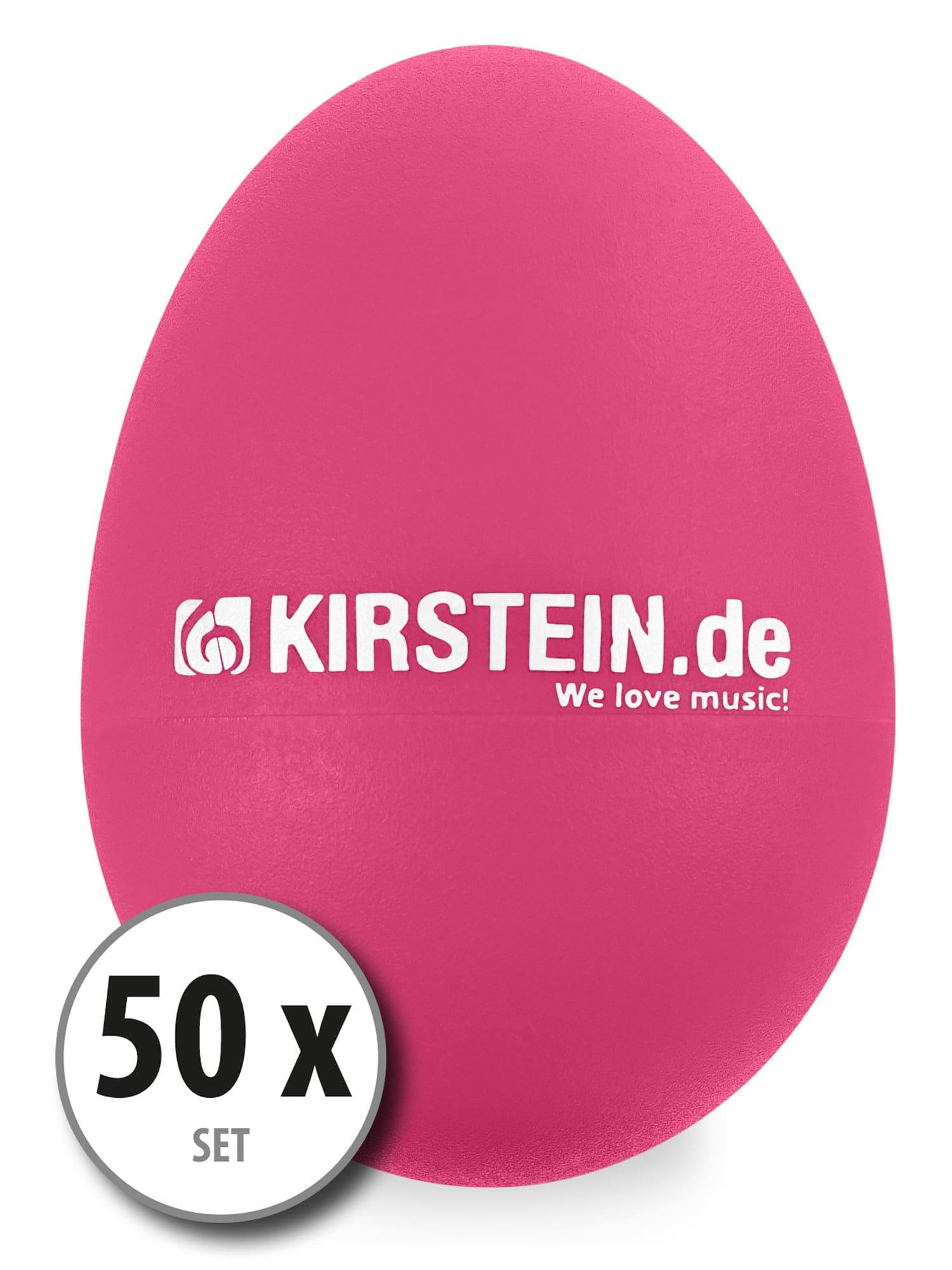 50x Kirstein ES 10P Egg Shaker pink Medium Light Set