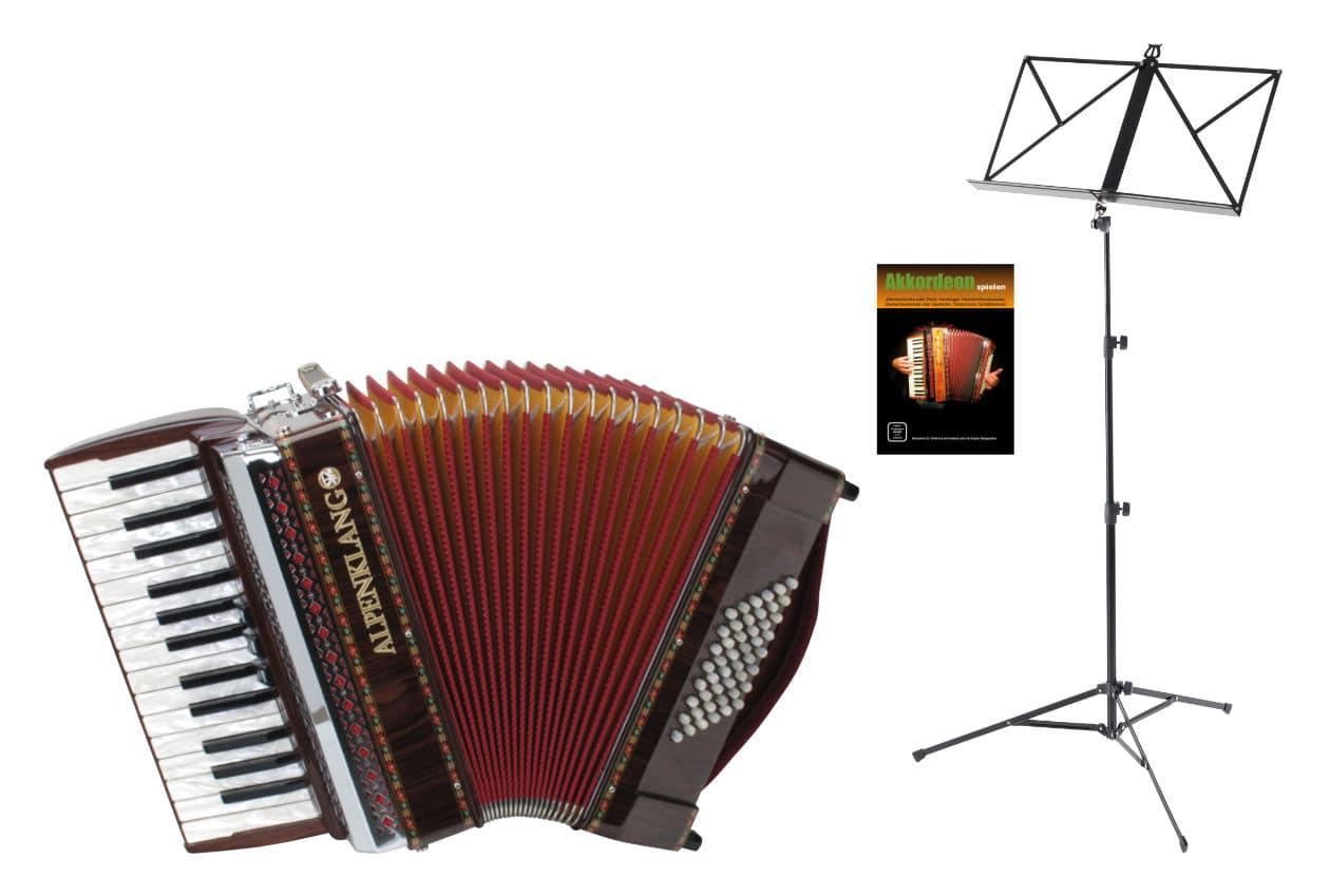 Akkordeons - Alpenklang Pro Akkordeon II 48 M Set Palisander - Onlineshop Musikhaus Kirstein