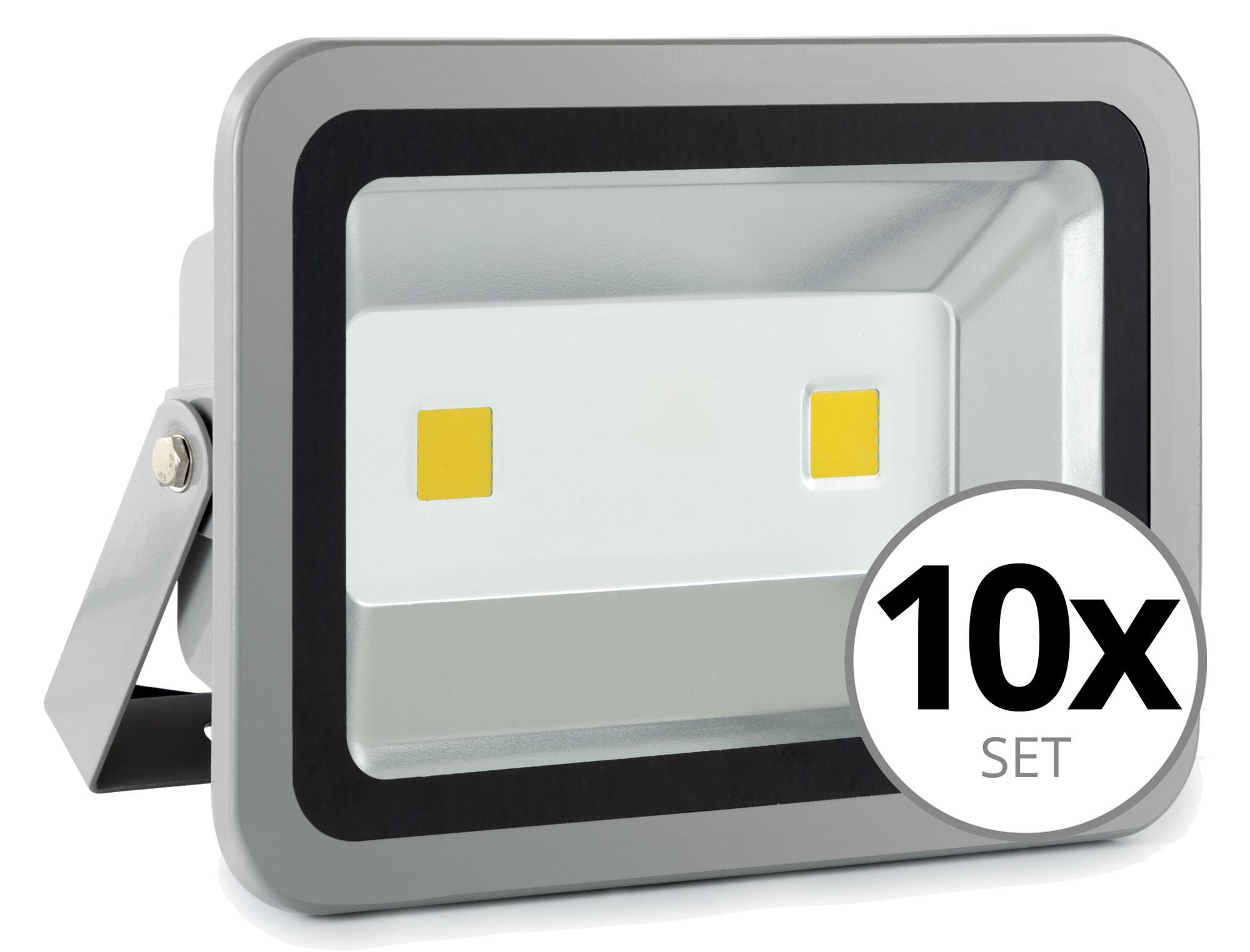 showlite fl 2100 led fluter ip65 100 watt 11000 lumen 10er set. Black Bedroom Furniture Sets. Home Design Ideas
