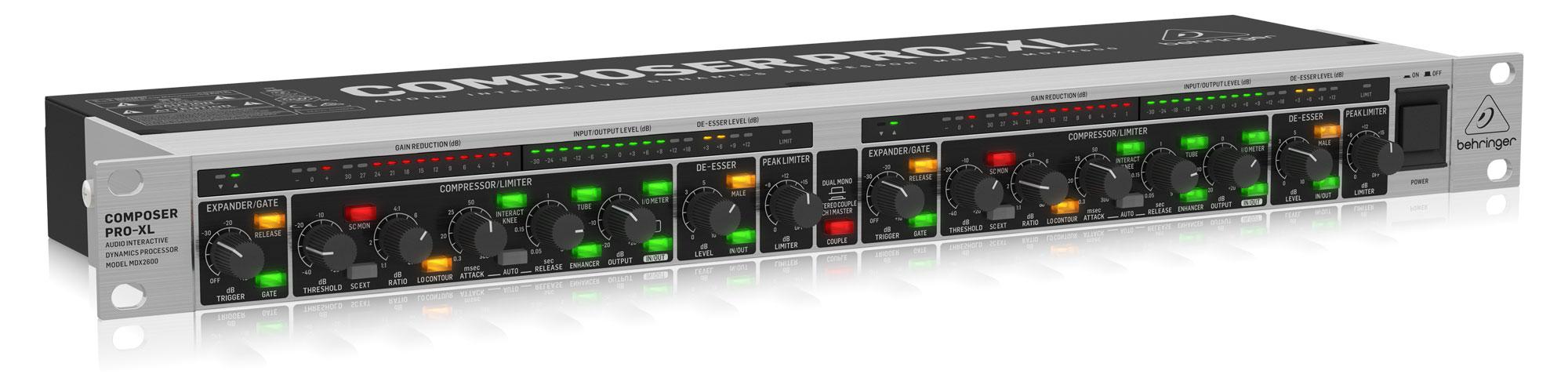 Studioeffekte - Behringer MDX2600 V2 Dynamik Prozessor - Onlineshop Musikhaus Kirstein