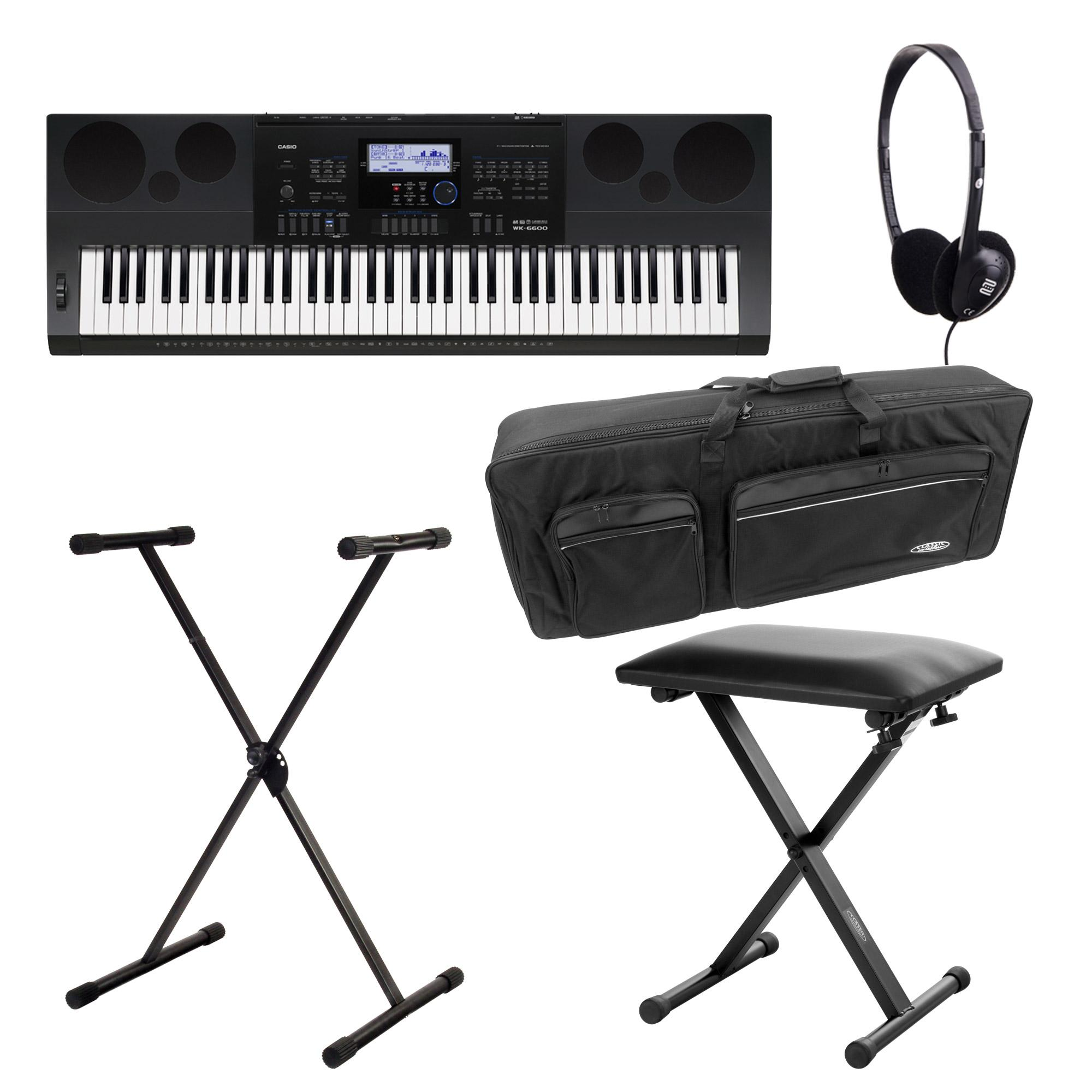 SET Casio WK 6600 Keyboard Deluxe