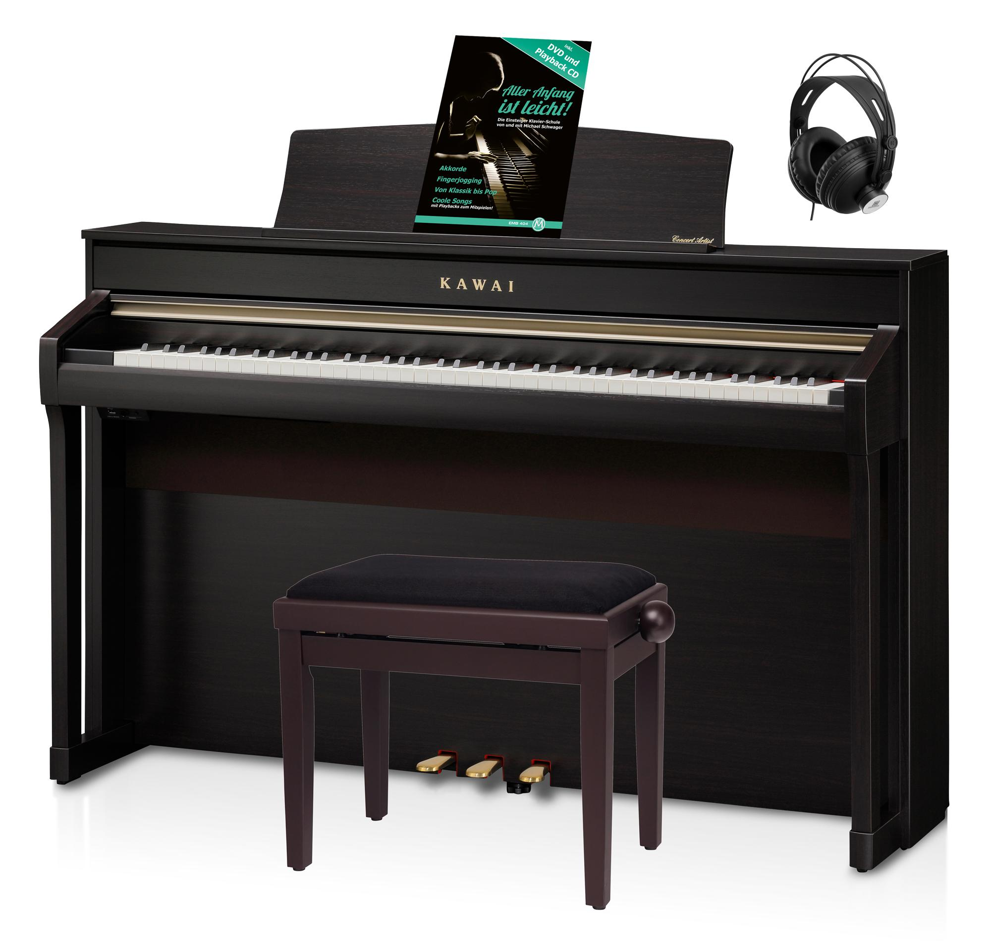 Kawai CA 98 R Digital Piano Rosenholz Set inkl. Pianobank, Kopfhörer Schule