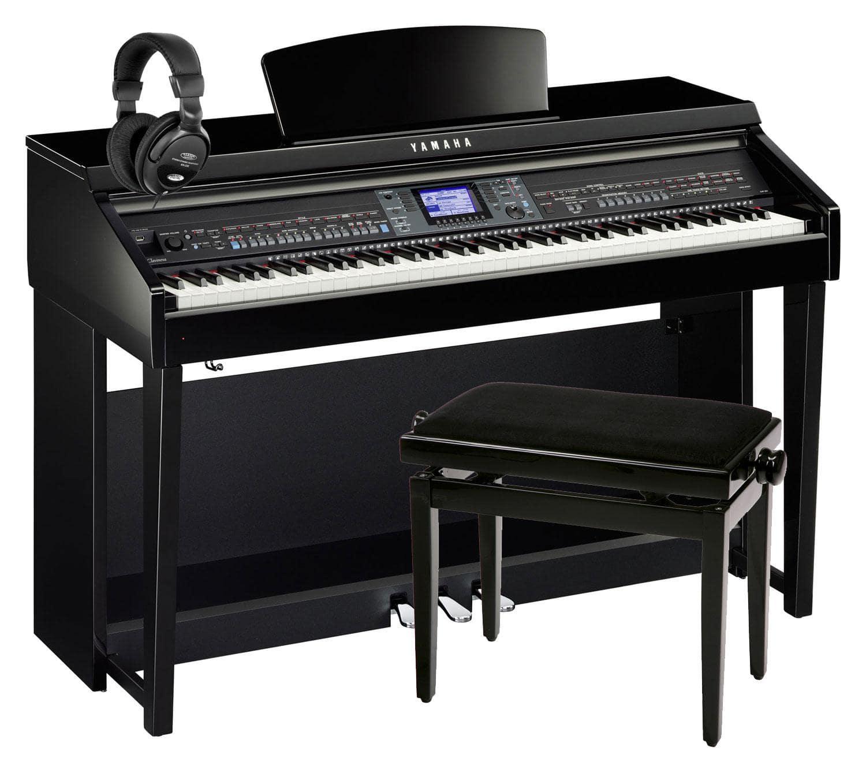 Yamaha cvp 601 pe clavinova digitalpiano schwarz hochglanz for Yamaha clavinova cvp 601