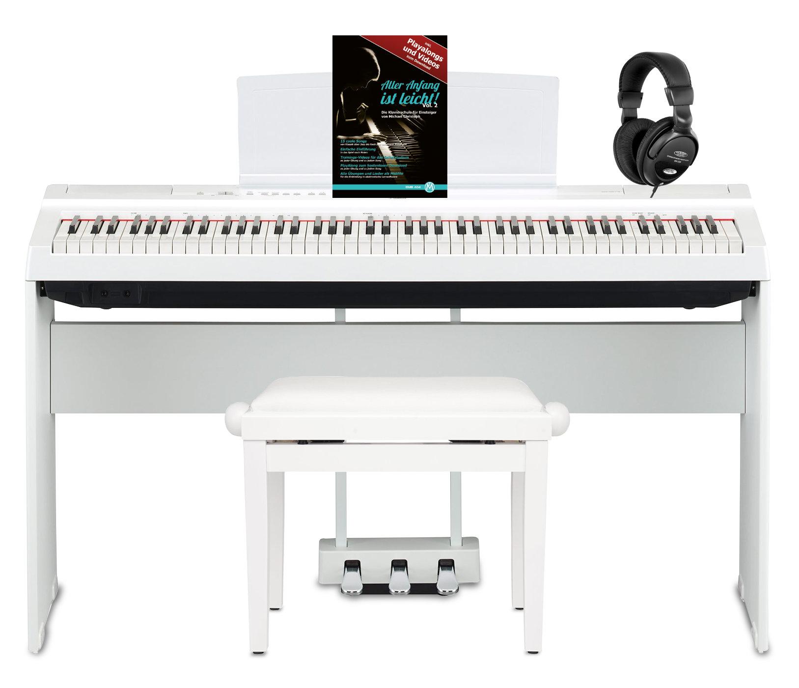 Yamaha P 125WH Stage Piano Komplettset Weiß