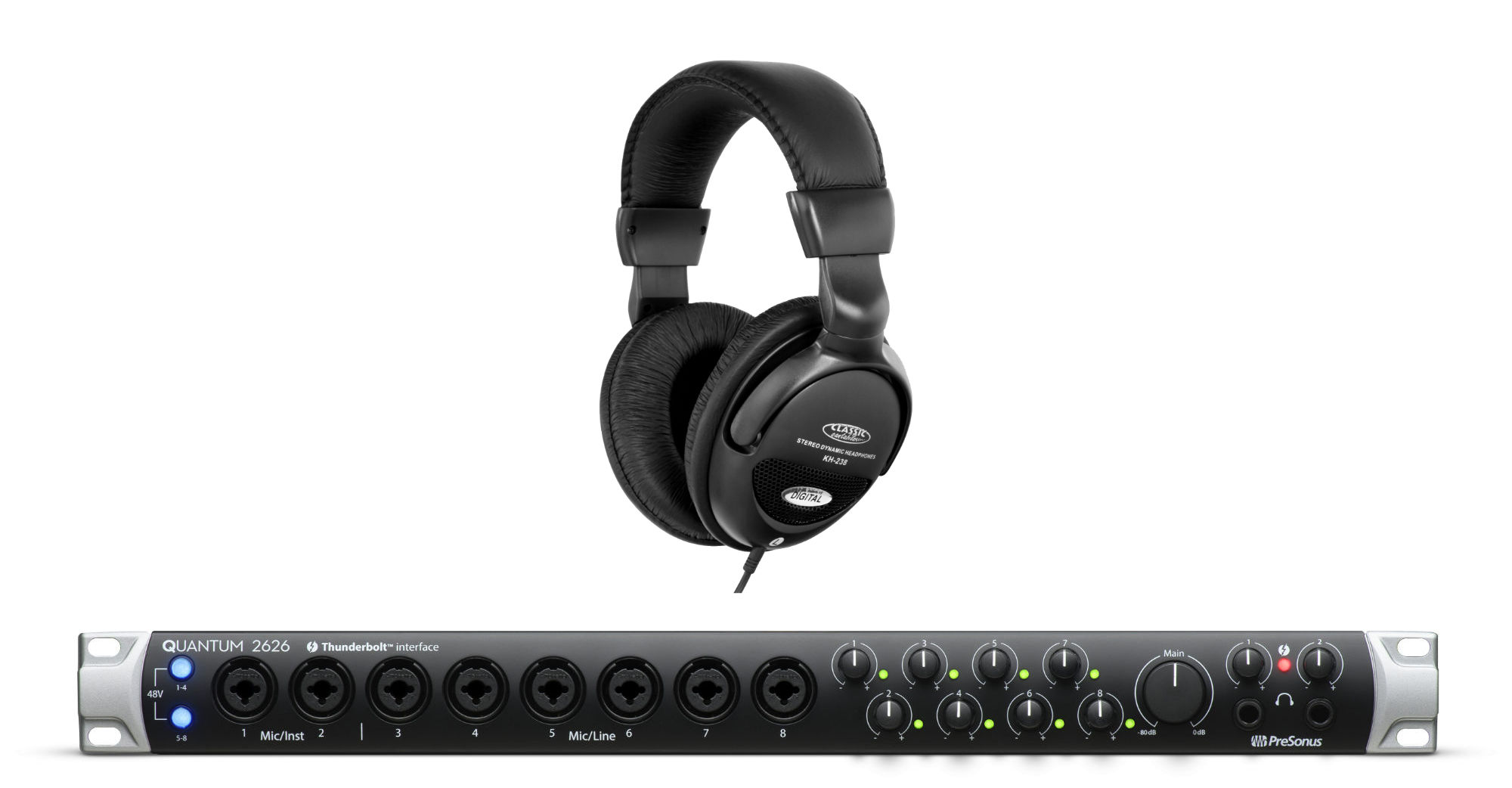 Pchardware - Presonus Quantum 2626 Audio Interface Set - Onlineshop Musikhaus Kirstein