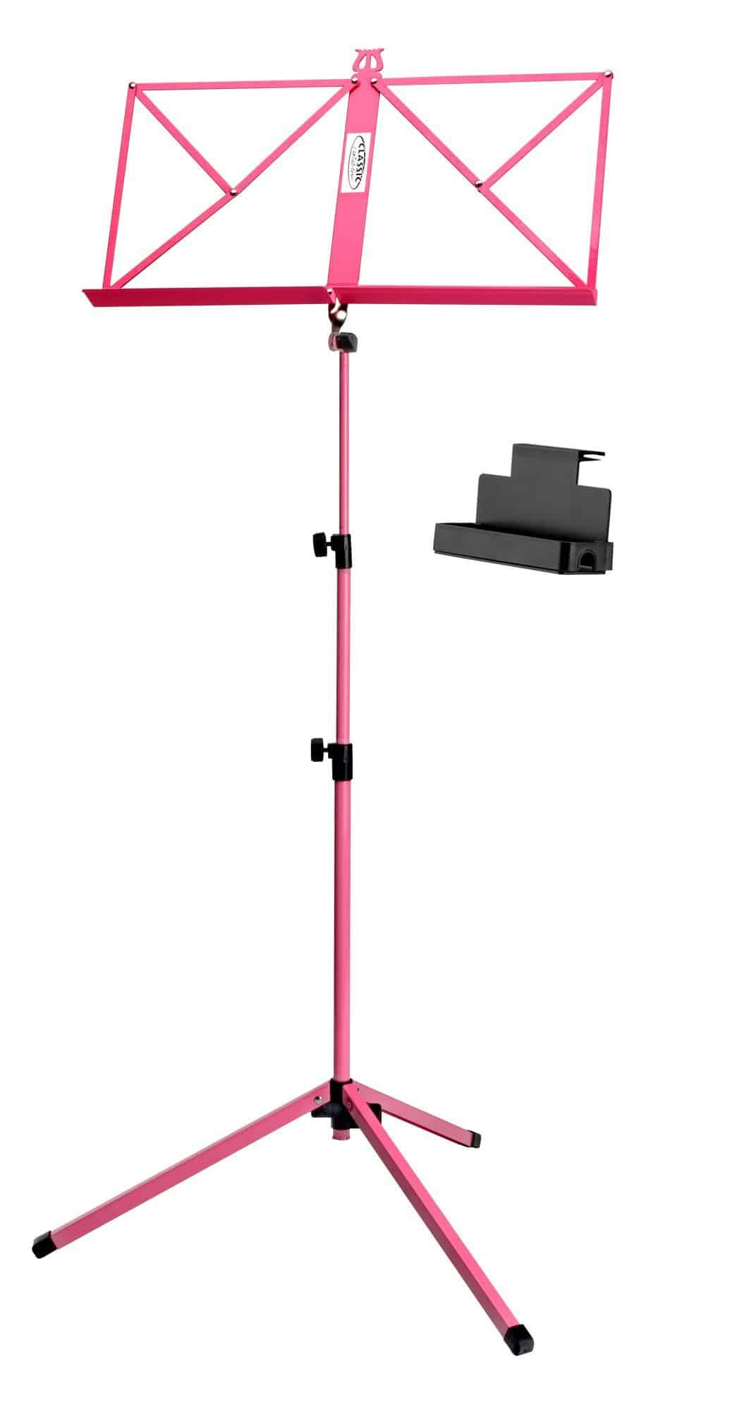Musikerzubehoer - Classic Cantabile 100 Notenständer Medium Pink Set inkl. Ablagebox - Onlineshop Musikhaus Kirstein
