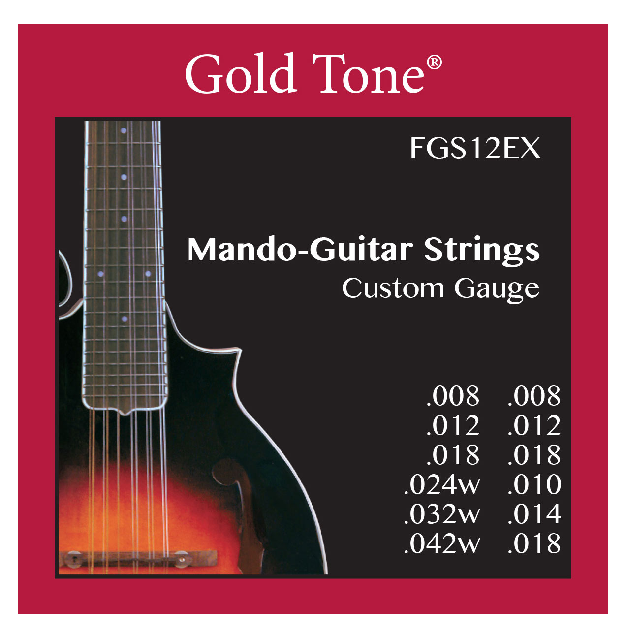 Saiten - Gold Tone FGS 12EX Mando Guitar Saitensatz für F12 - Onlineshop Musikhaus Kirstein
