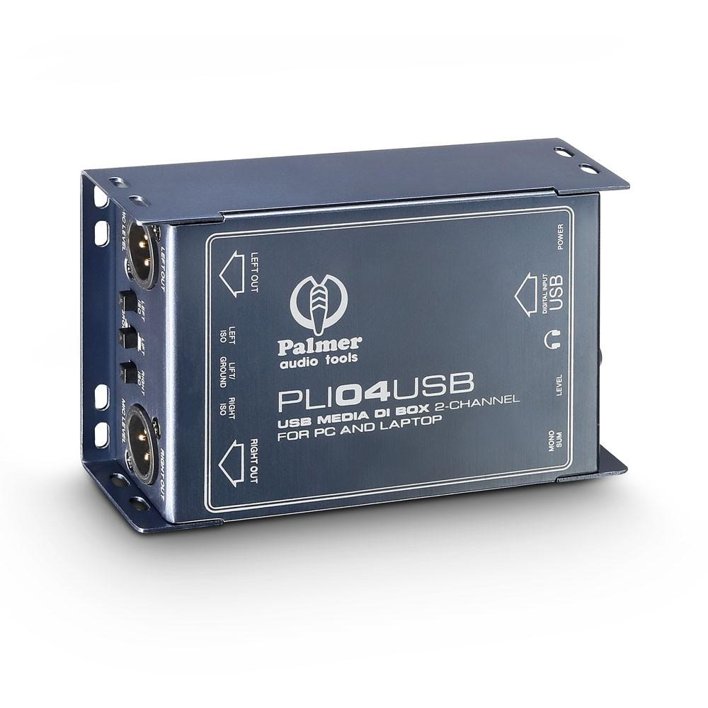 Diboxen - Palmer PLI 04 USB Passiv 2 Kanal DI Box - Onlineshop Musikhaus Kirstein