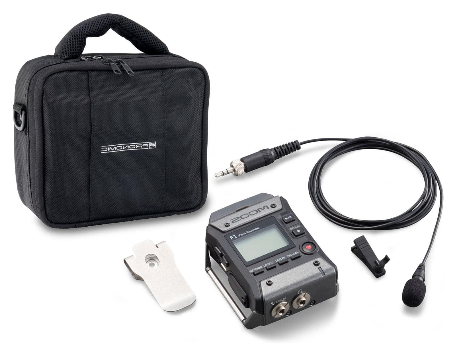 Zoom F1 Field Recorder mit Lavaliermikrofon Set inkl. Tasche