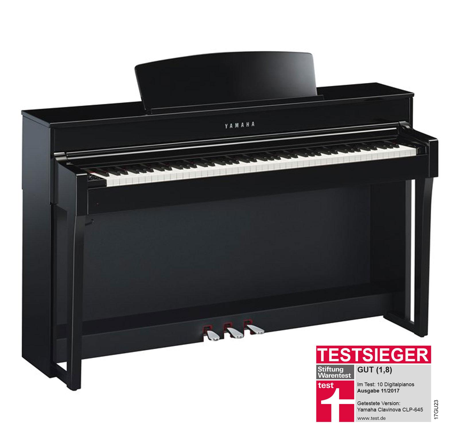 Yamaha CLP 645 PE Digitalpiano schwarz hochglanz