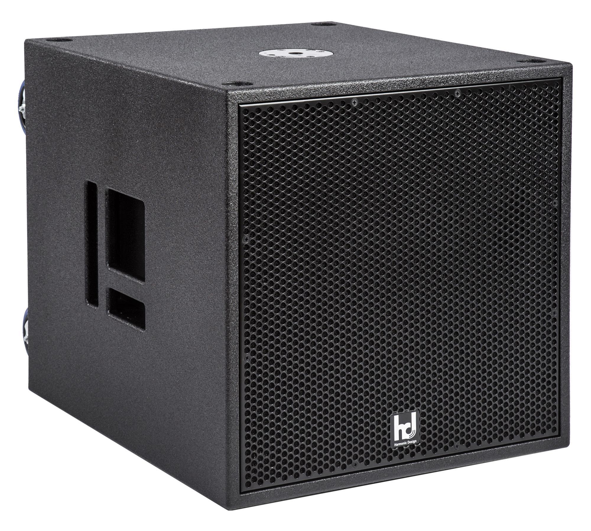 Harmonic Design P18 Multi DSP Aktiv Subwoofer, 4100 Watt Digitalcontroller, 1x 2500W 2x 800 W, mit Rollen