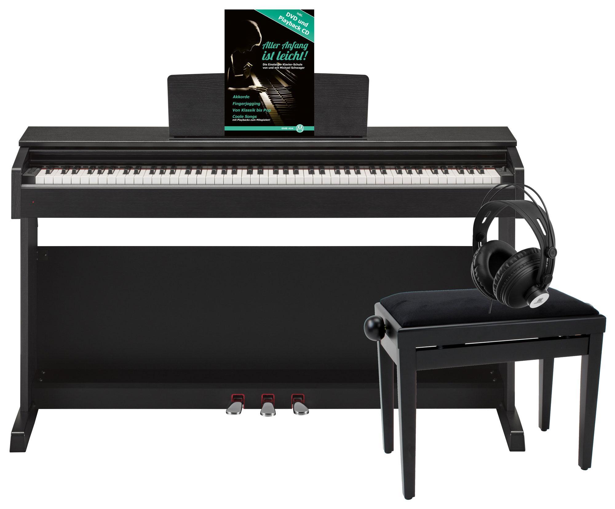 Yamaha YDP 143 B Arius E Piano Schwarz Matt Deluxe Set