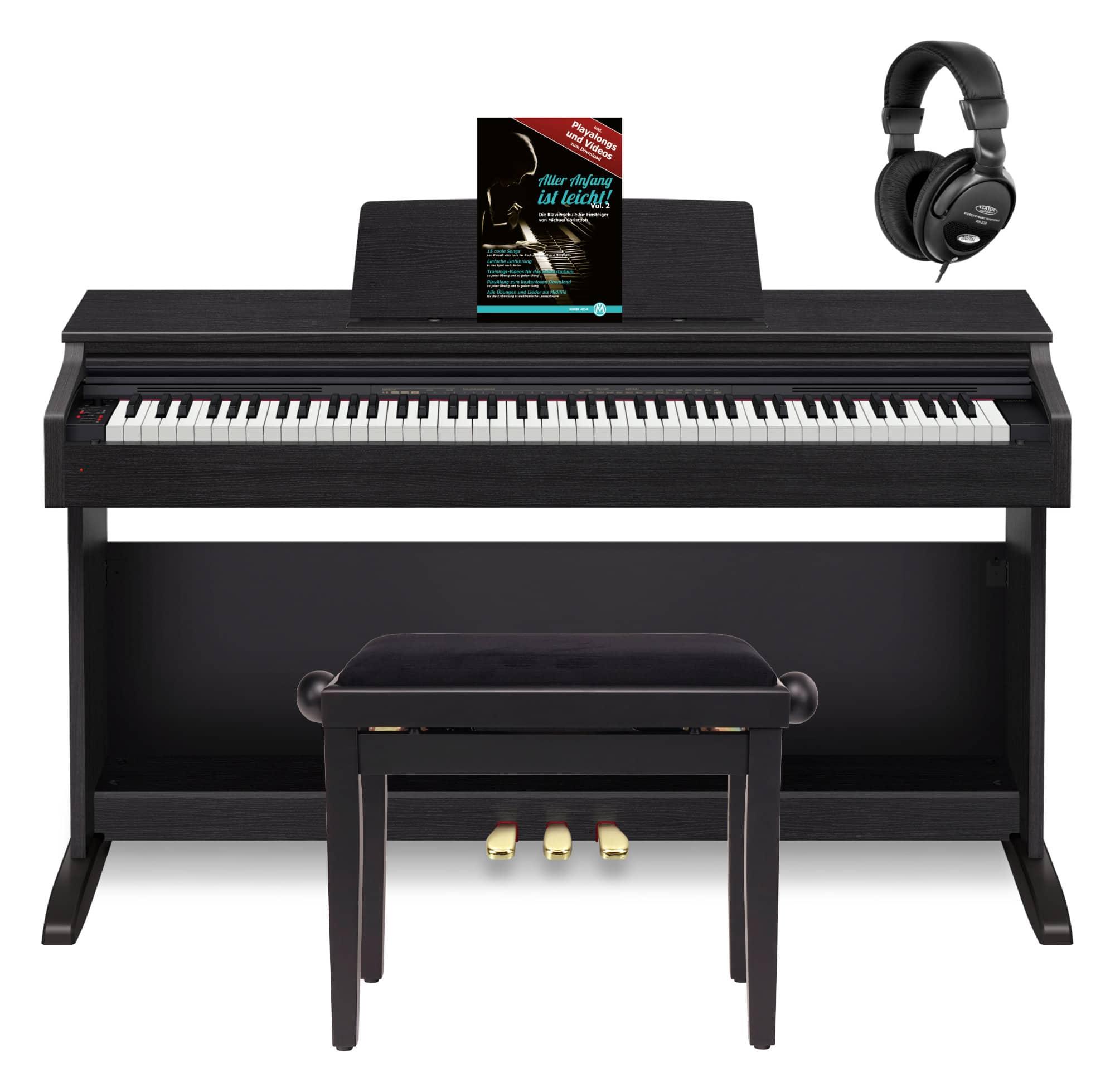 Casio Celviano AP 270 BK Digitalpiano schwarz Set inkl. Bank, Kopfhörer Schule
