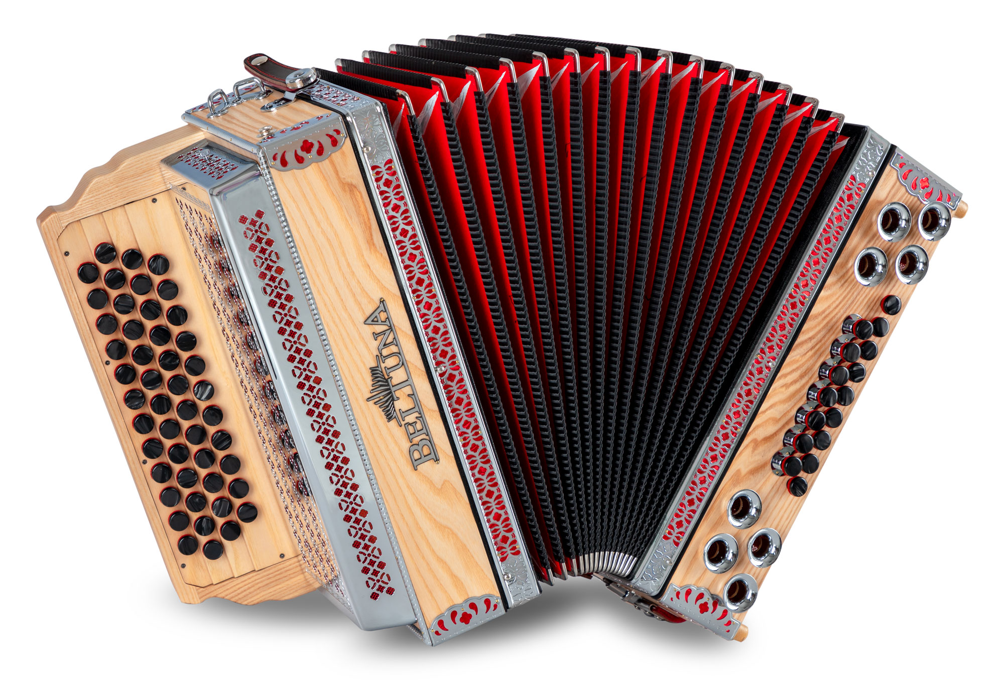 Akkordeons - Beltuna Alpstar IV D Harmonika Esche massiv G C F B MB - Onlineshop Musikhaus Kirstein