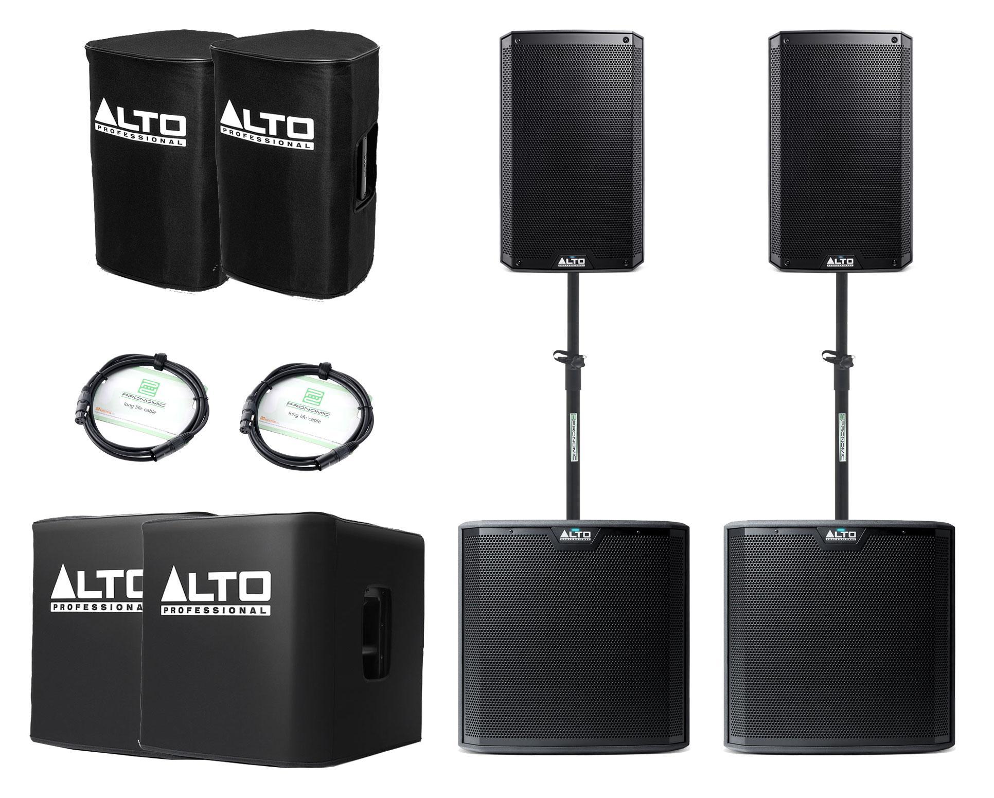 Alto TS210 TS212S Aktivanlagen Set inkl. Zubehör