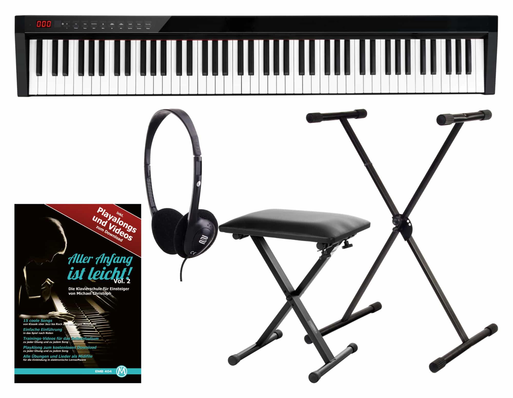 Homekeyboards - FunKey SP 588 Easy Piano Set - Onlineshop Musikhaus Kirstein