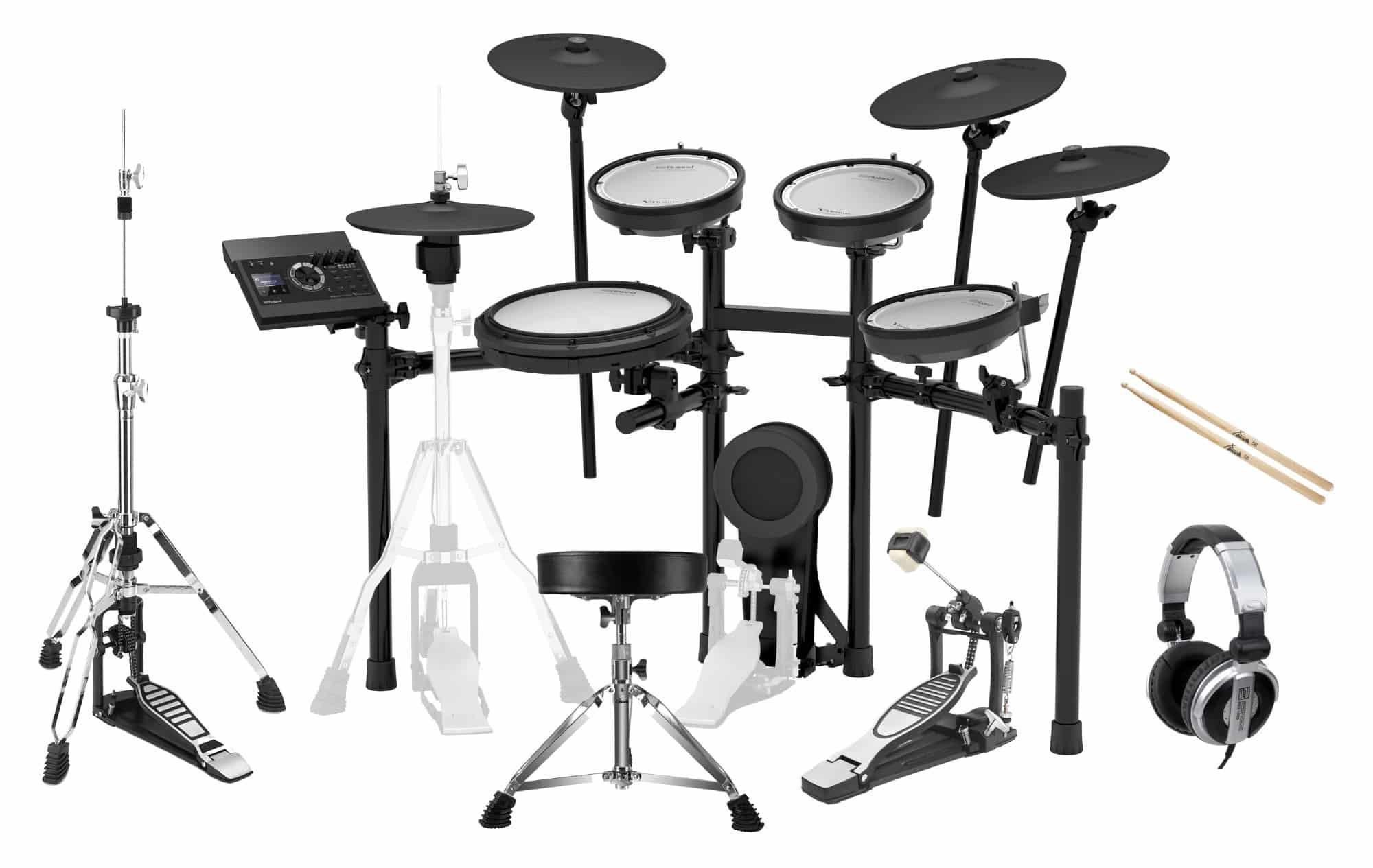 Roland TD 17KVX V Drum Kit Set inkl. Hocker, Sticks, Fußmaschine Kopfhörer