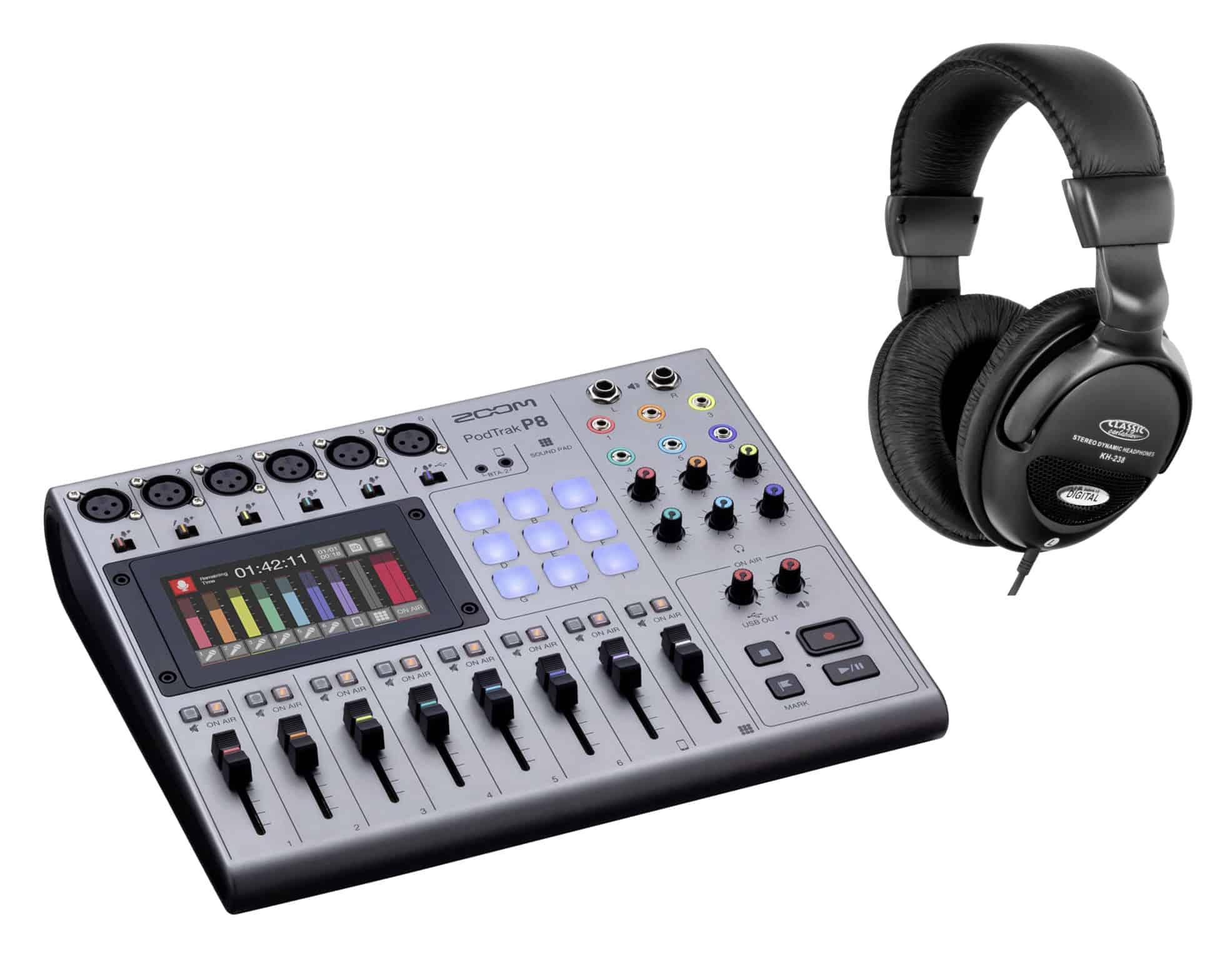 Pchardware - Zoom PodTrak P8 Podcasting Recorder Set - Onlineshop Musikhaus Kirstein