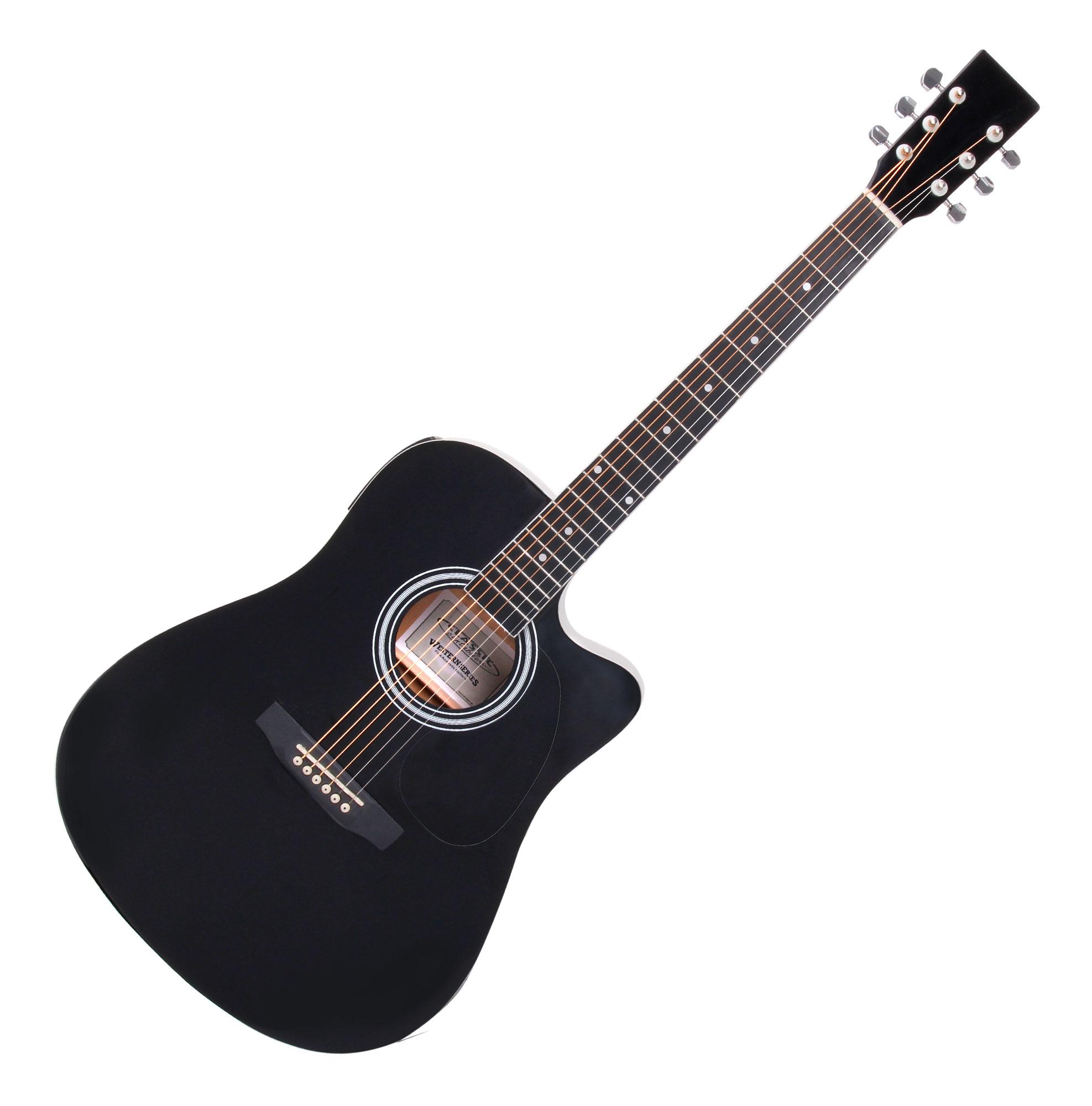 Classic Cantabile Ws 10bk Ce Acoustic Guitar Black With Pickup