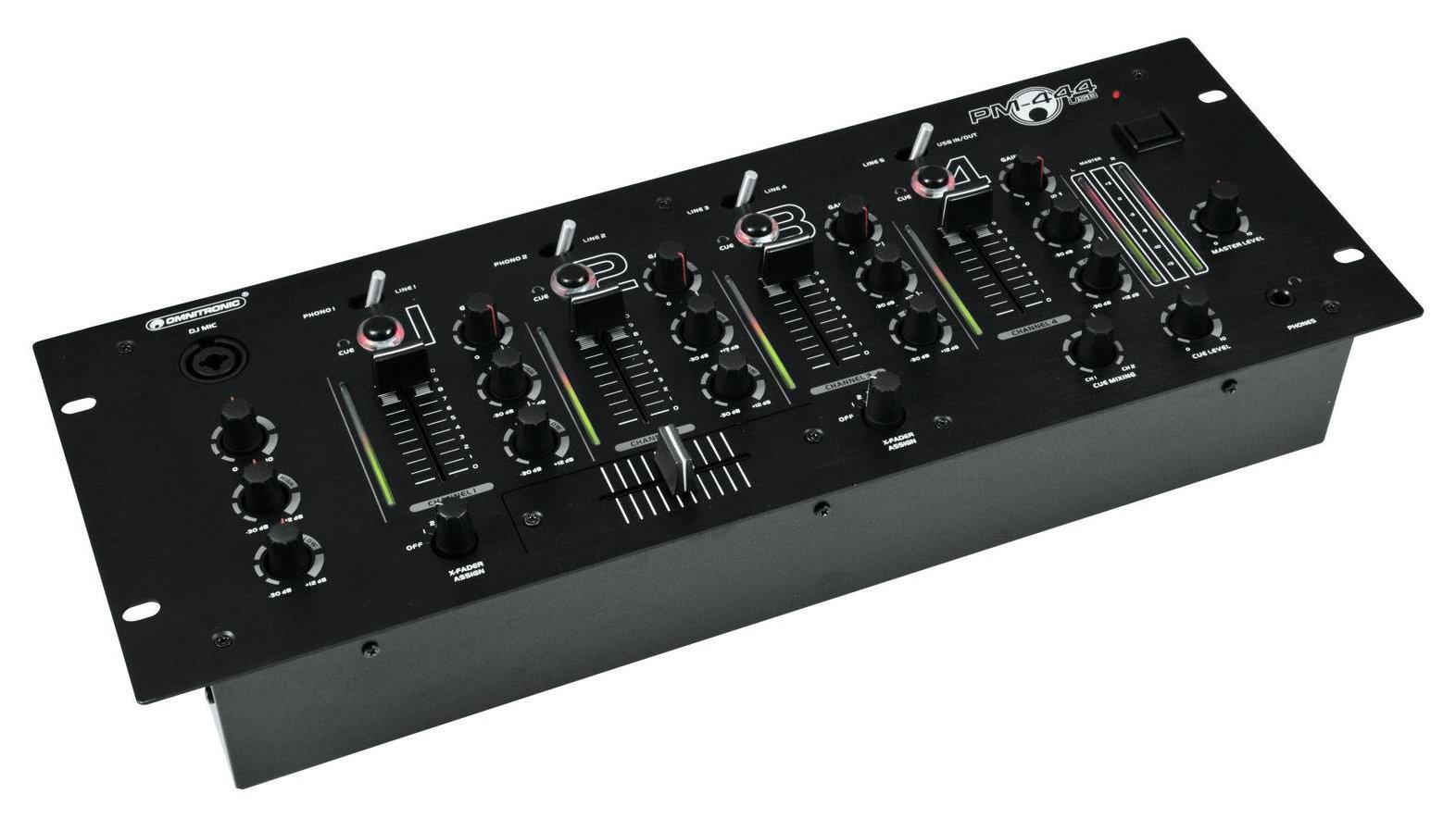 Djmixer - Omnitronic PM 444USB 4 Kanal DJ Mixer - Onlineshop Musikhaus Kirstein