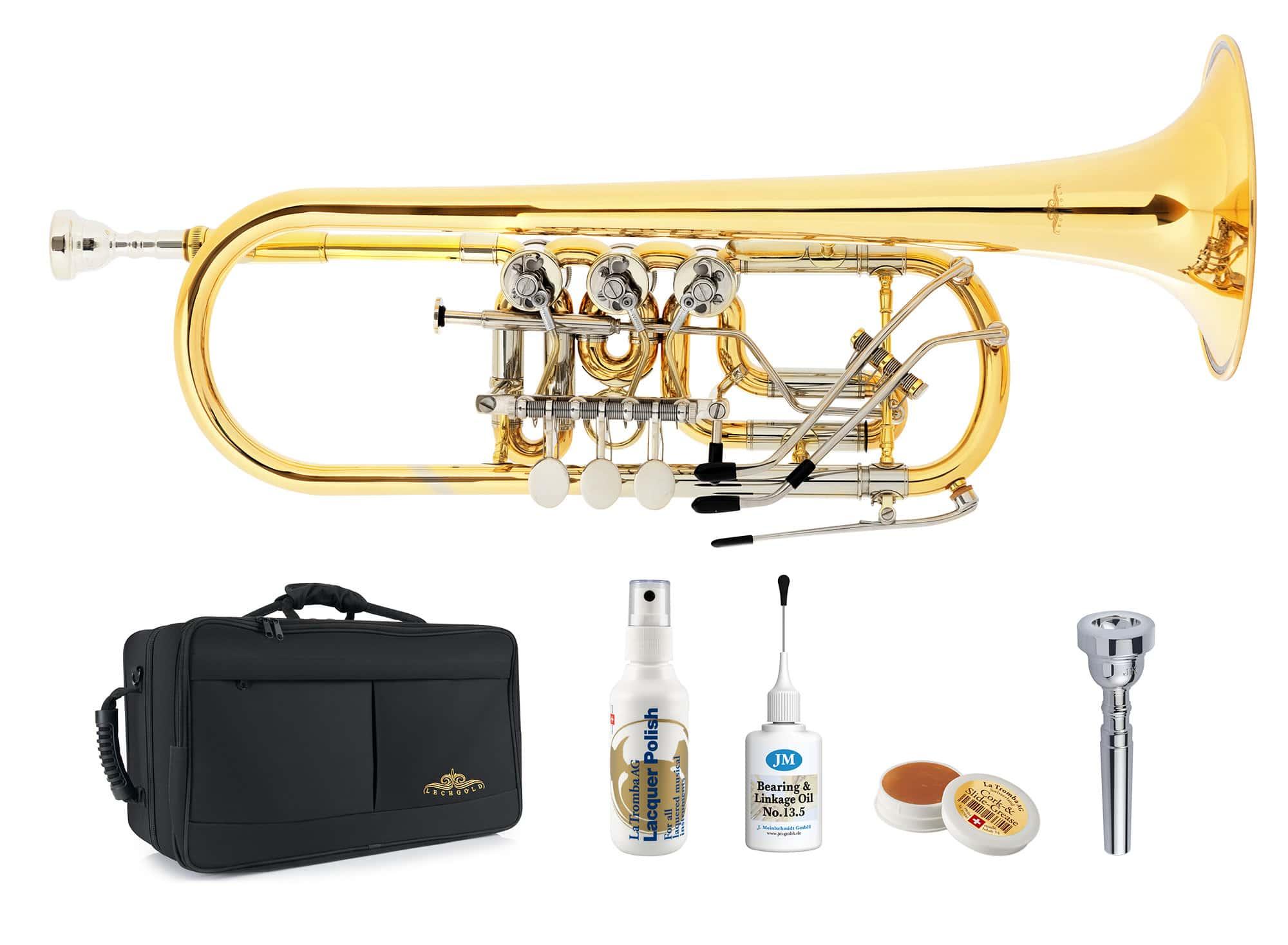 Trompeten - Lechgold CTR 19L C Konzerttrompete Deluxe Set - Onlineshop Musikhaus Kirstein