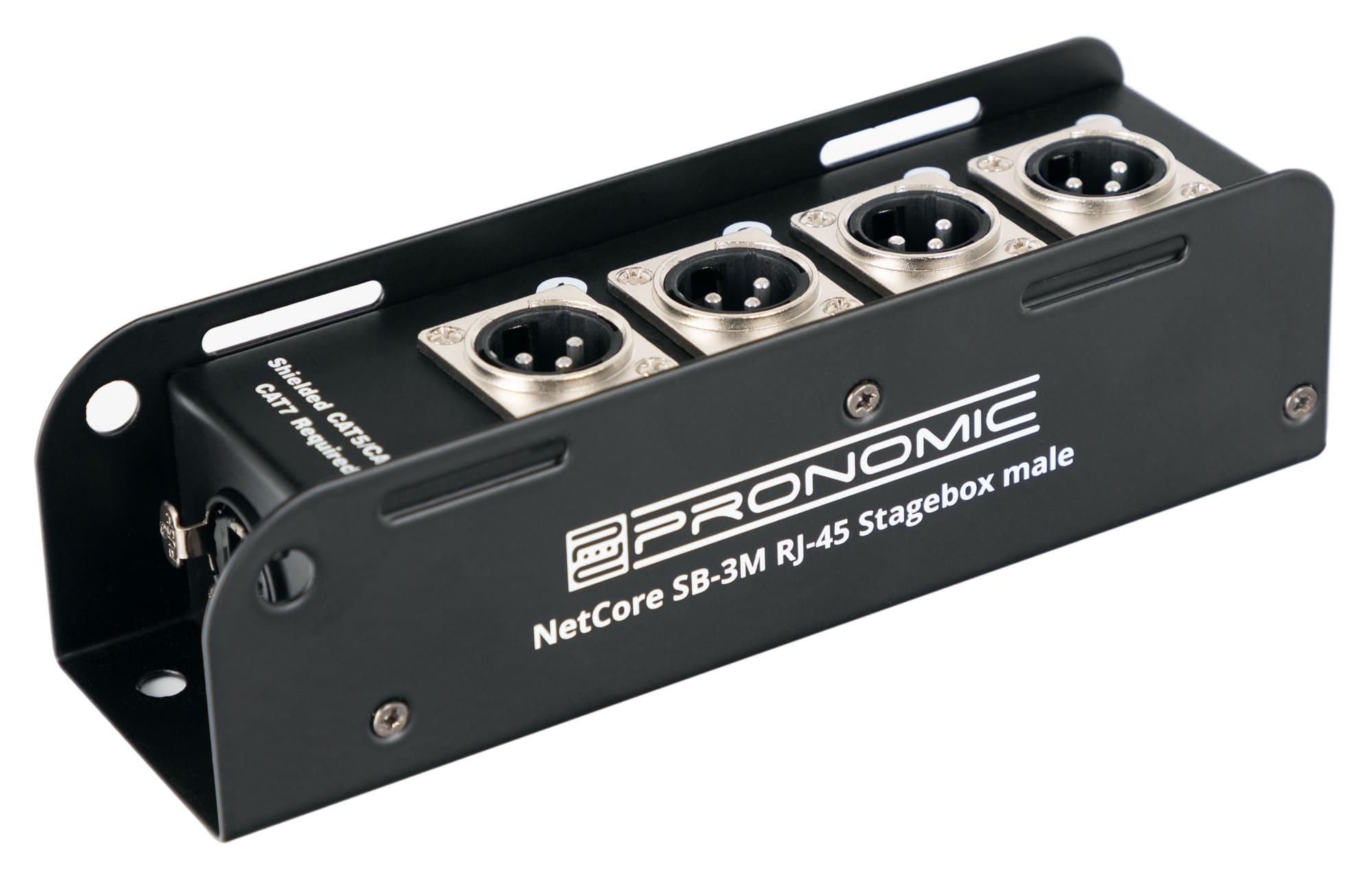 Diboxen - Pronomic NetCore SB 3M Multicore Stagebox male - Onlineshop Musikhaus Kirstein