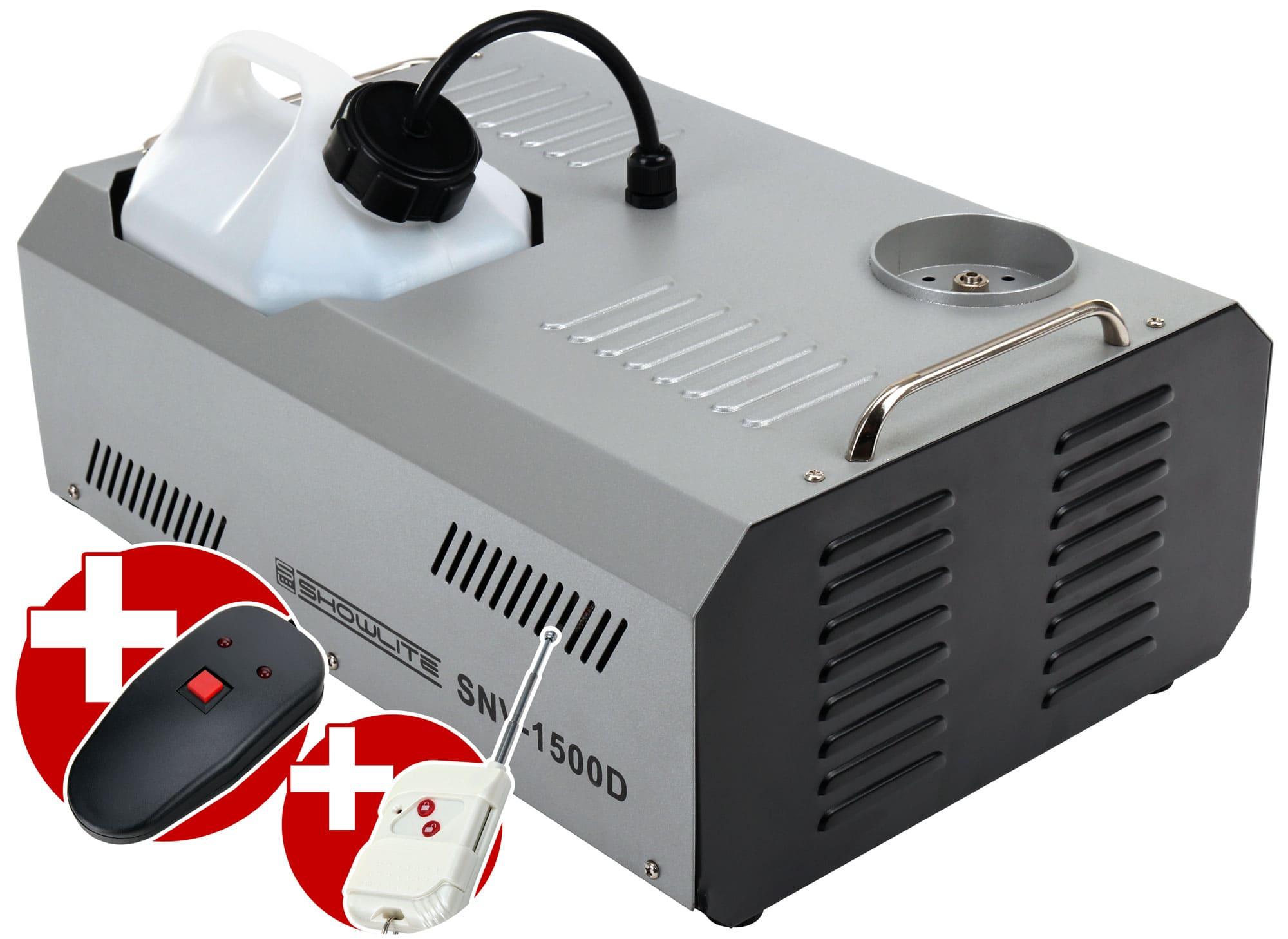Nebeleffekte - Showlite SNV 1500D DMX Vertikal Nebelmaschine 1500W inkl. Fernbedienung - Onlineshop Musikhaus Kirstein