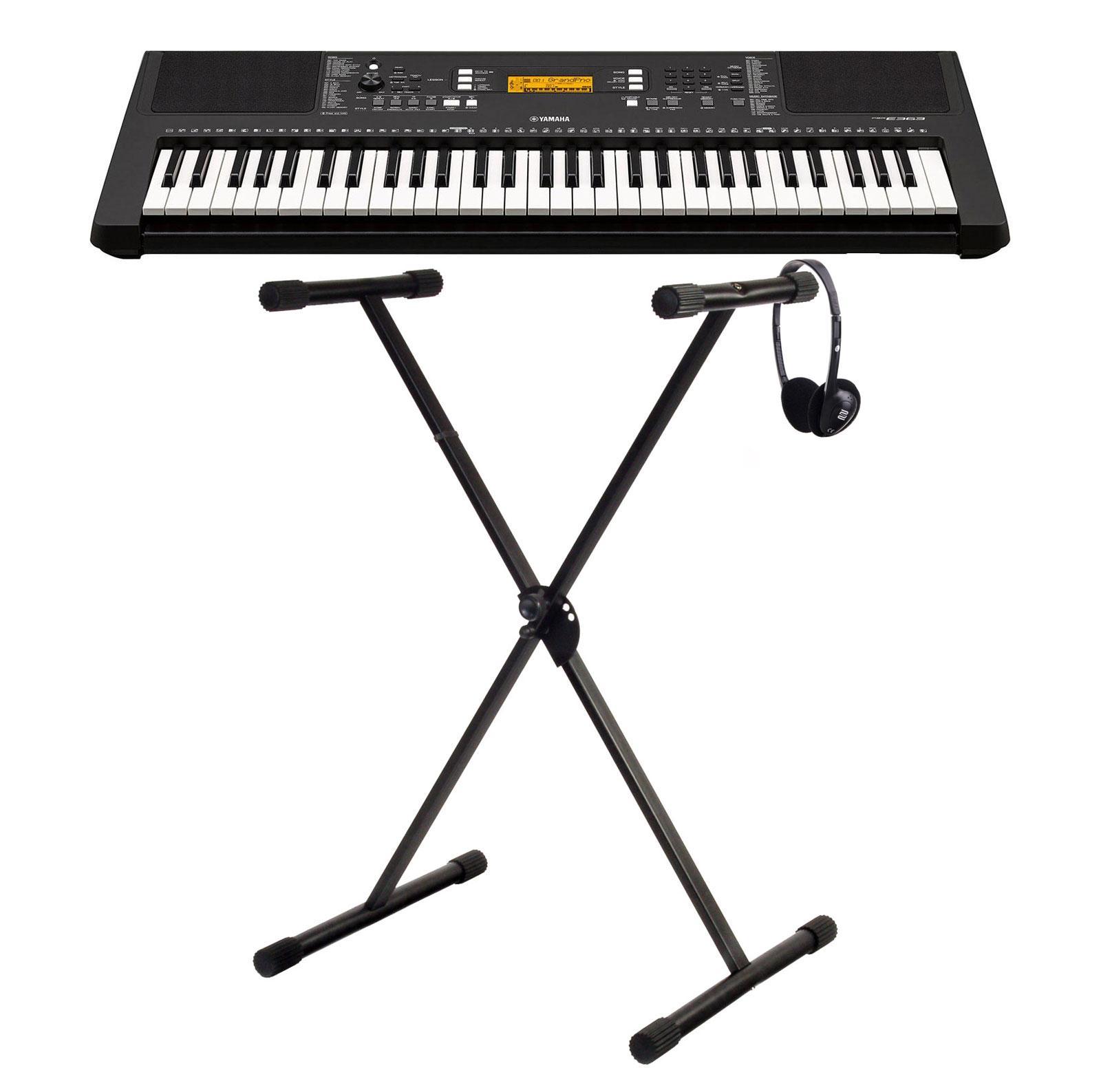 Yamaha PSR E363 Keyboard SET mit Ständer und Kopfhörer