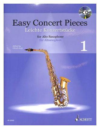 Saxophonlernen - Easy Concert Pieces 1 für Alt Saxophon und Klavier - Onlineshop Musikhaus Kirstein