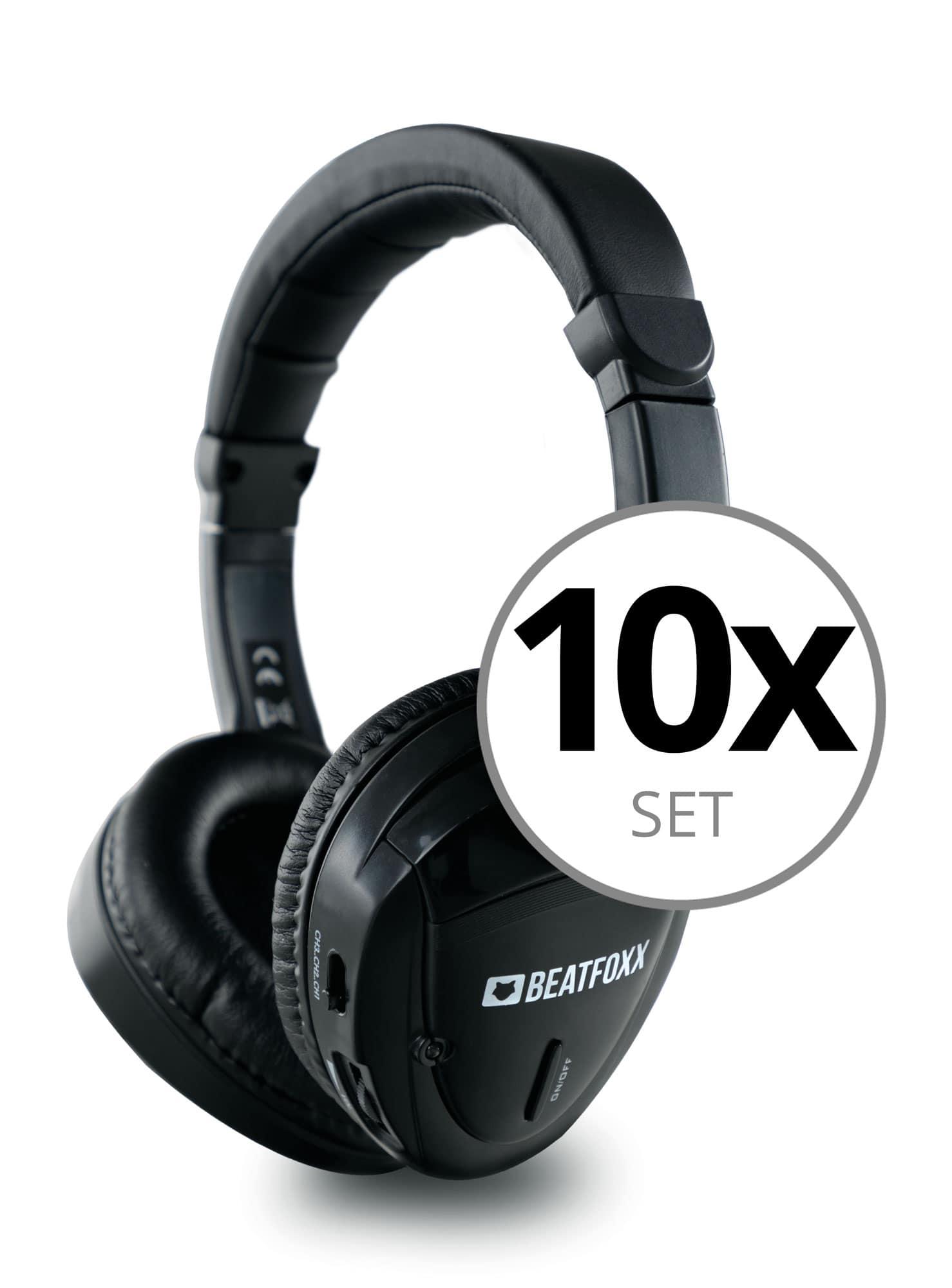 Beatfoxx Silent Guide Classic Kopfhörer 10er Set