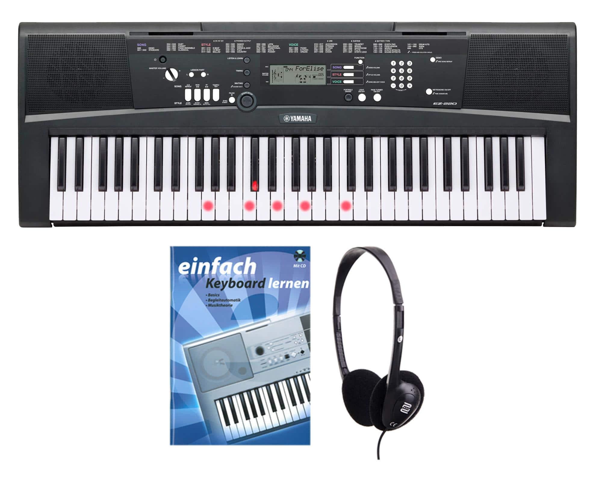 Yamaha EZ-220 Keyboard SET inkl. Kopfhörer Schule
