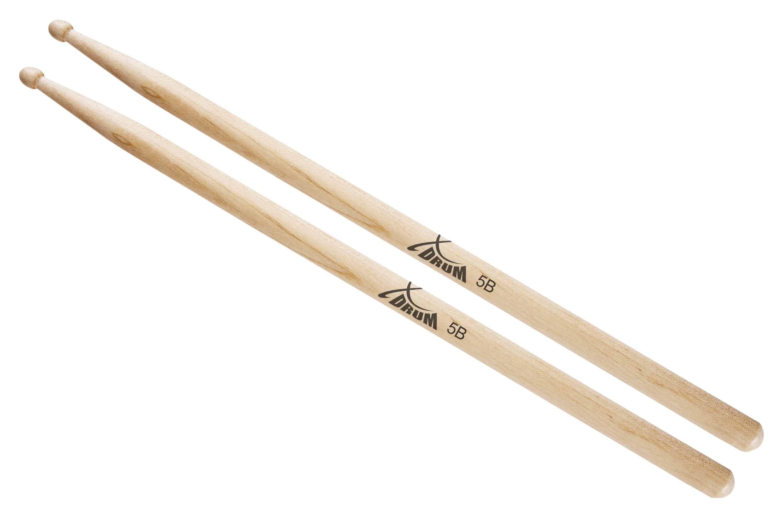 XDrum Schlagzeug Sticks 5B Wood Tip