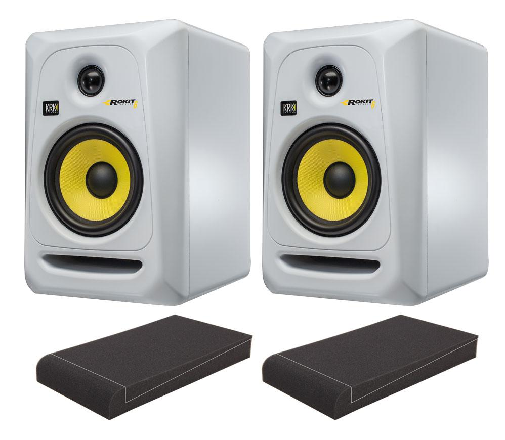 KRK ROKIT RP6 G3 SE Studio Monitor SET mit Pronomic ISO Stand 7' Absorberplatten