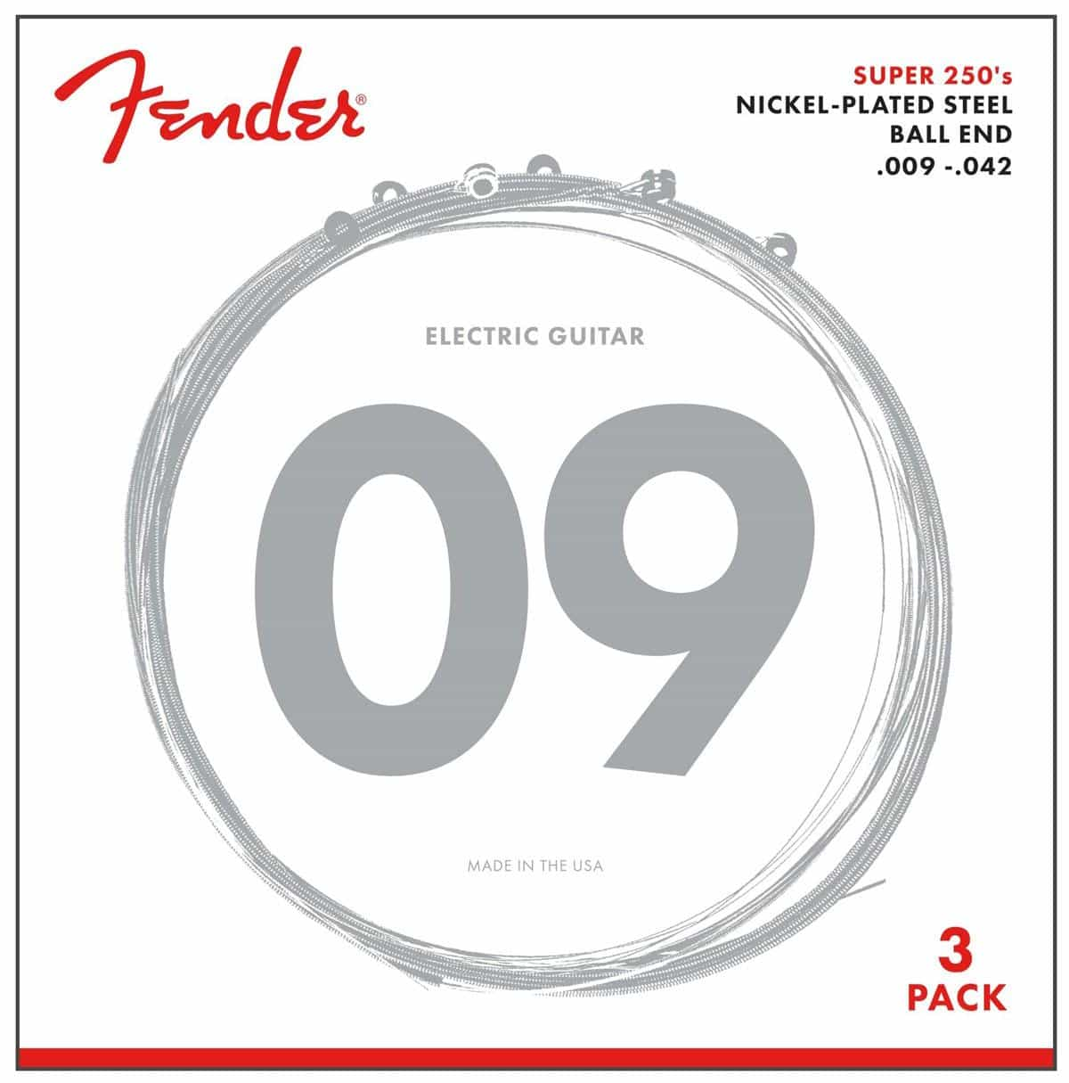 Saiten - Fender 250L Nickel Plated Steel 3er Pack - Onlineshop Musikhaus Kirstein
