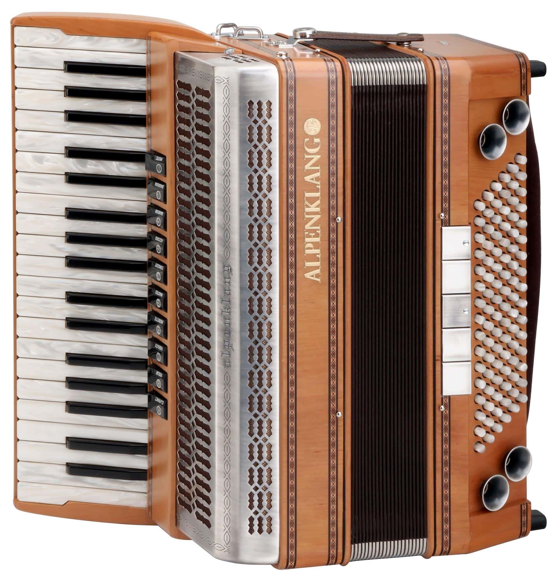Akkordeons - Alpenklang Pro Akkordeon IV 96 MHR Erle - Onlineshop Musikhaus Kirstein