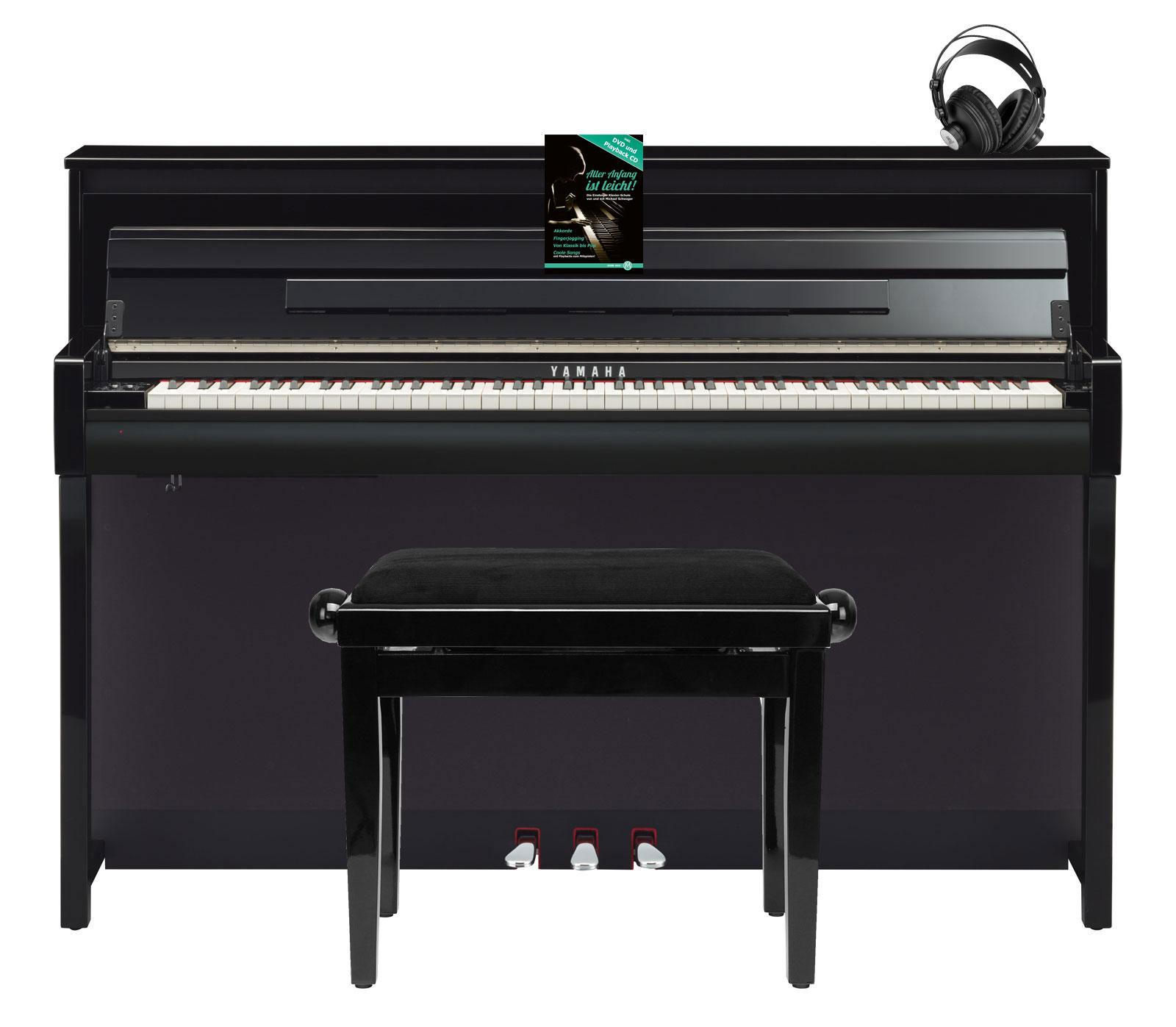 yamaha clp 685 pe digitalpiano schwarz hochgl set mit kopfh rer bank schule. Black Bedroom Furniture Sets. Home Design Ideas