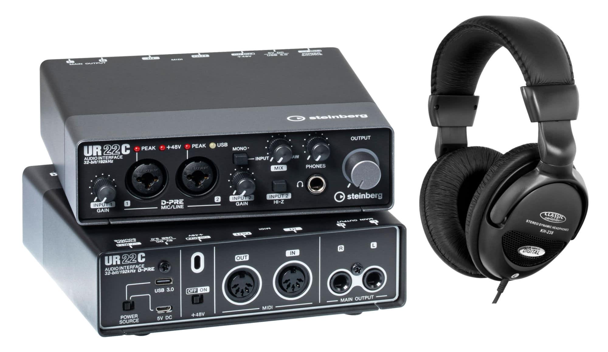 Pchardware - Steinberg UR22C USB Audio Interface Set - Onlineshop Musikhaus Kirstein