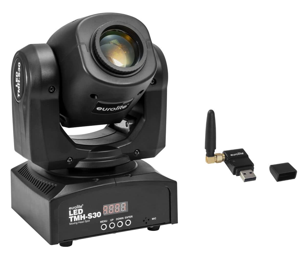 Lichtsets - Eurolite TMH S30 Moving Head Spot Wireless DMX Set - Onlineshop Musikhaus Kirstein