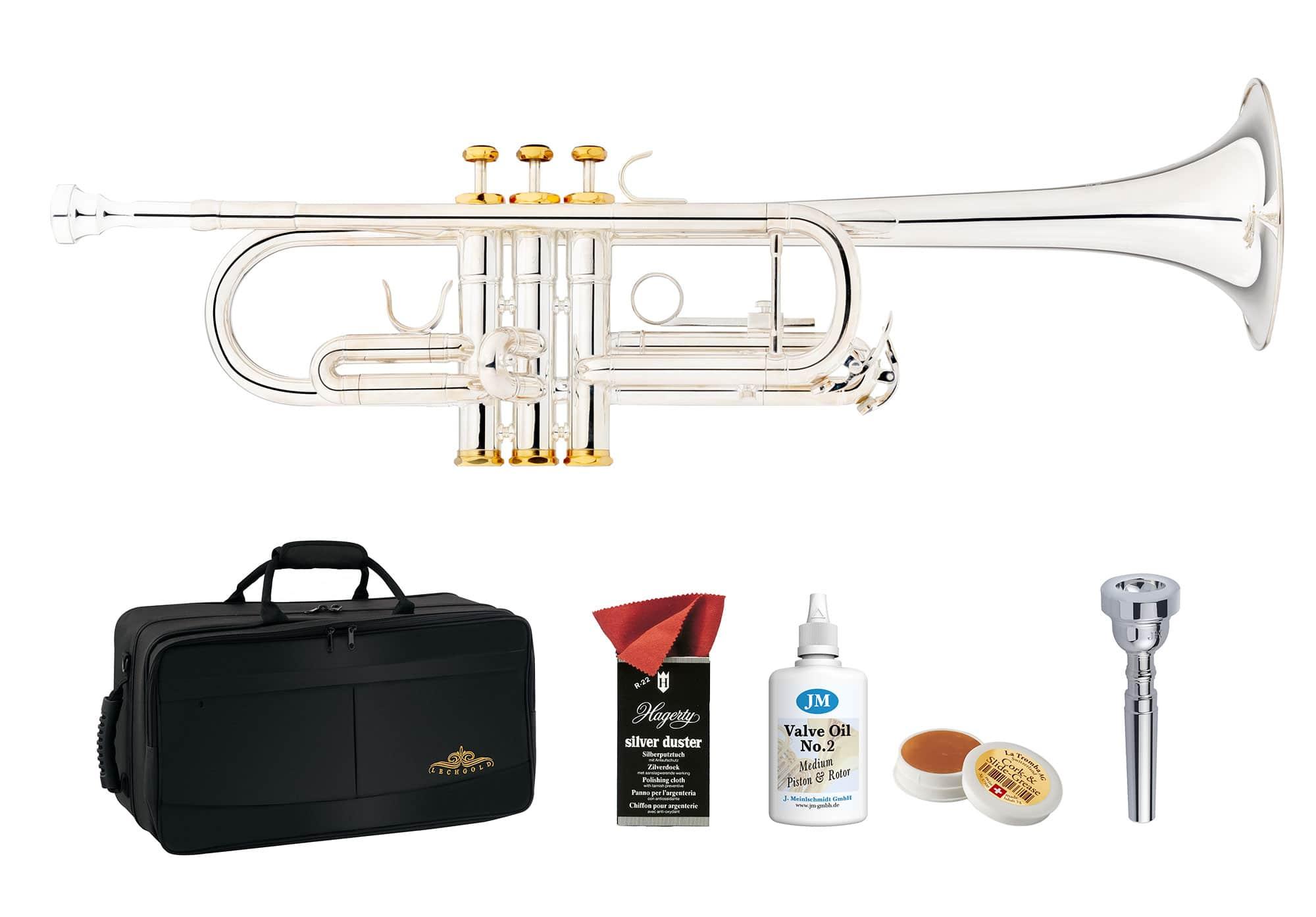 Trompeten - Lechgold CTR 18S C Trompete versilbert Deluxe Set - Onlineshop Musikhaus Kirstein