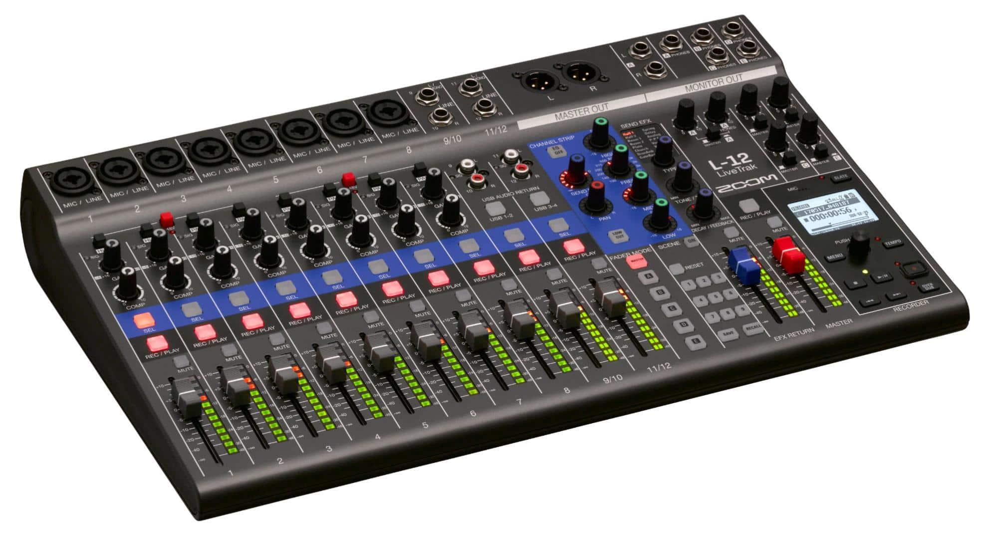 Recording - Zoom LiveTrak L 12 - Onlineshop Musikhaus Kirstein