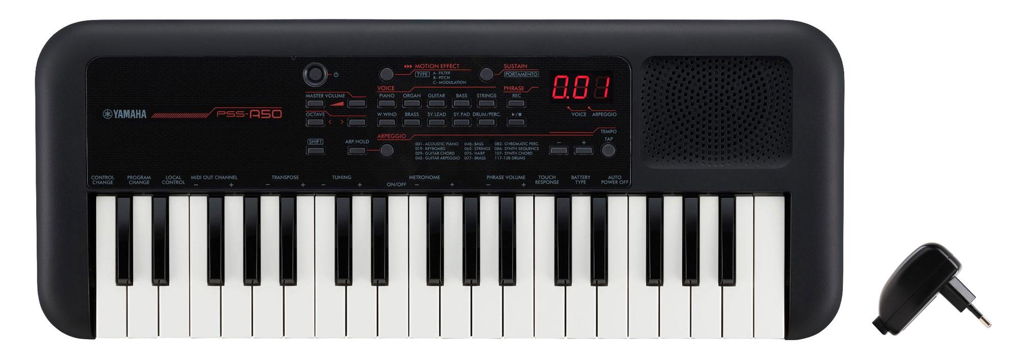 Homekeyboards - Yamaha PSS A50 Keyboard Set inkl. USB Netzteil - Onlineshop Musikhaus Kirstein