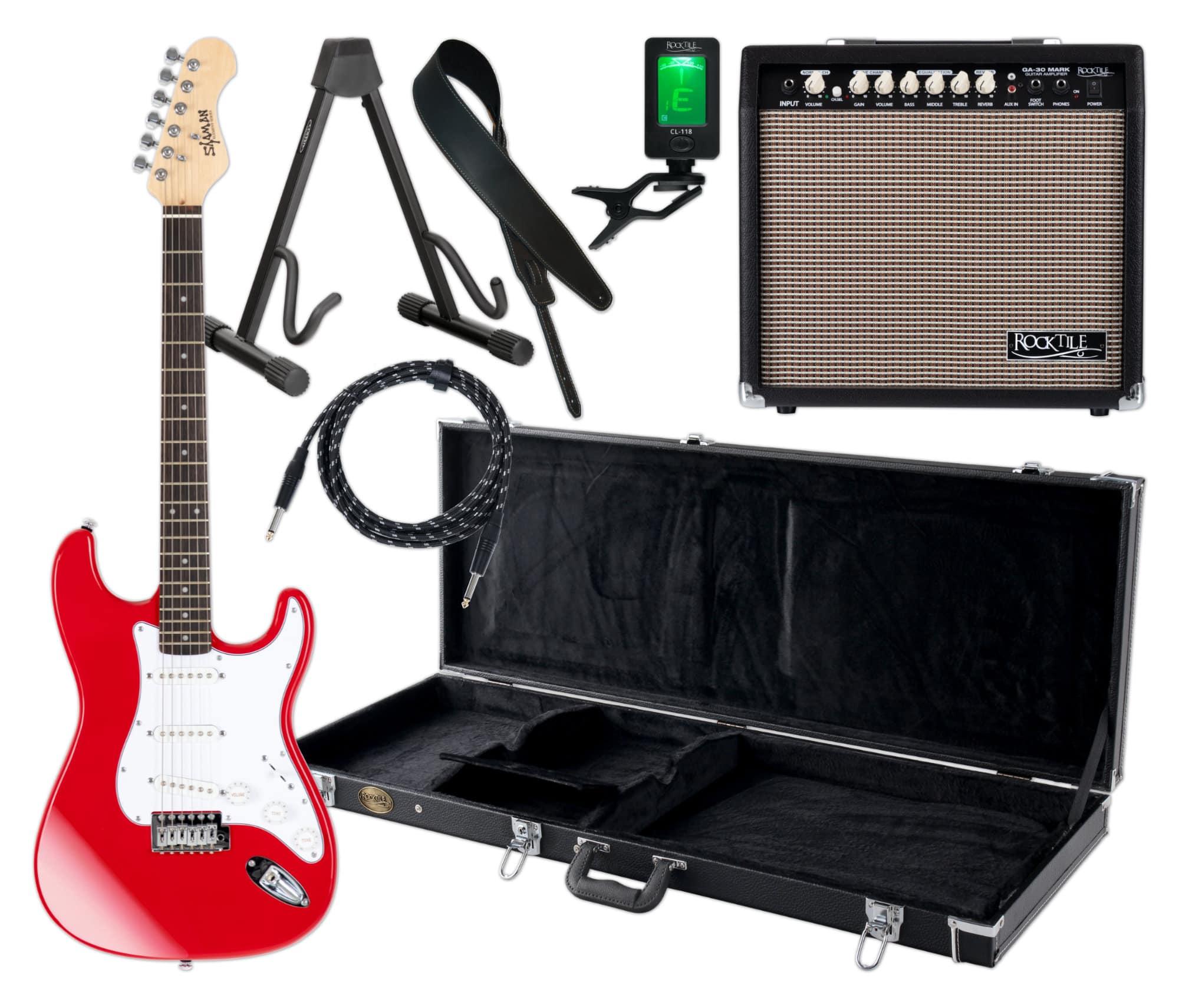Egitarren - Shaman Element Series STX 100R Komplett Set - Onlineshop Musikhaus Kirstein