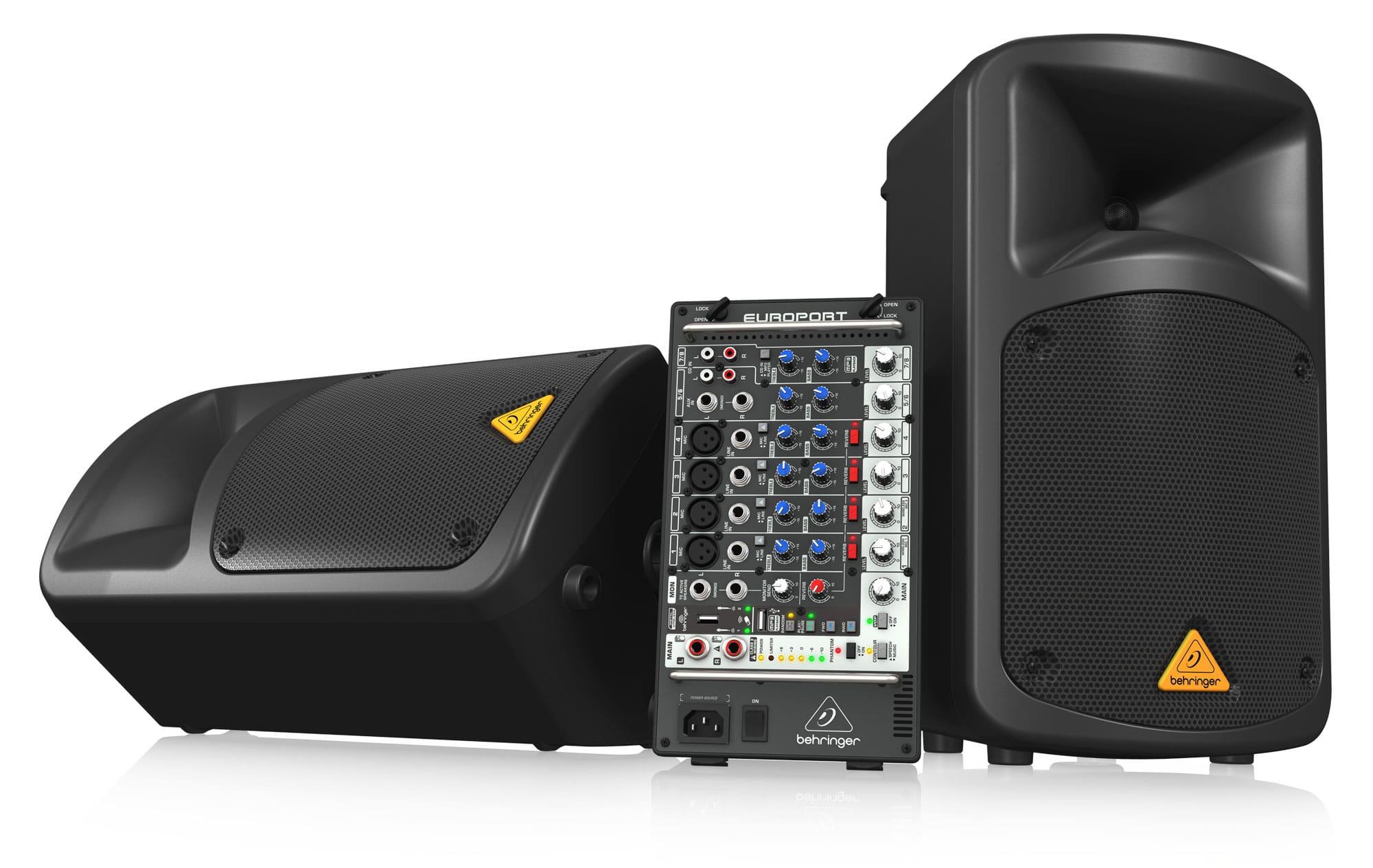 Boxenkomplettanlagen - Behringer EPS500MP3 Kompaktes 8 Kanal PA System - Onlineshop Musikhaus Kirstein