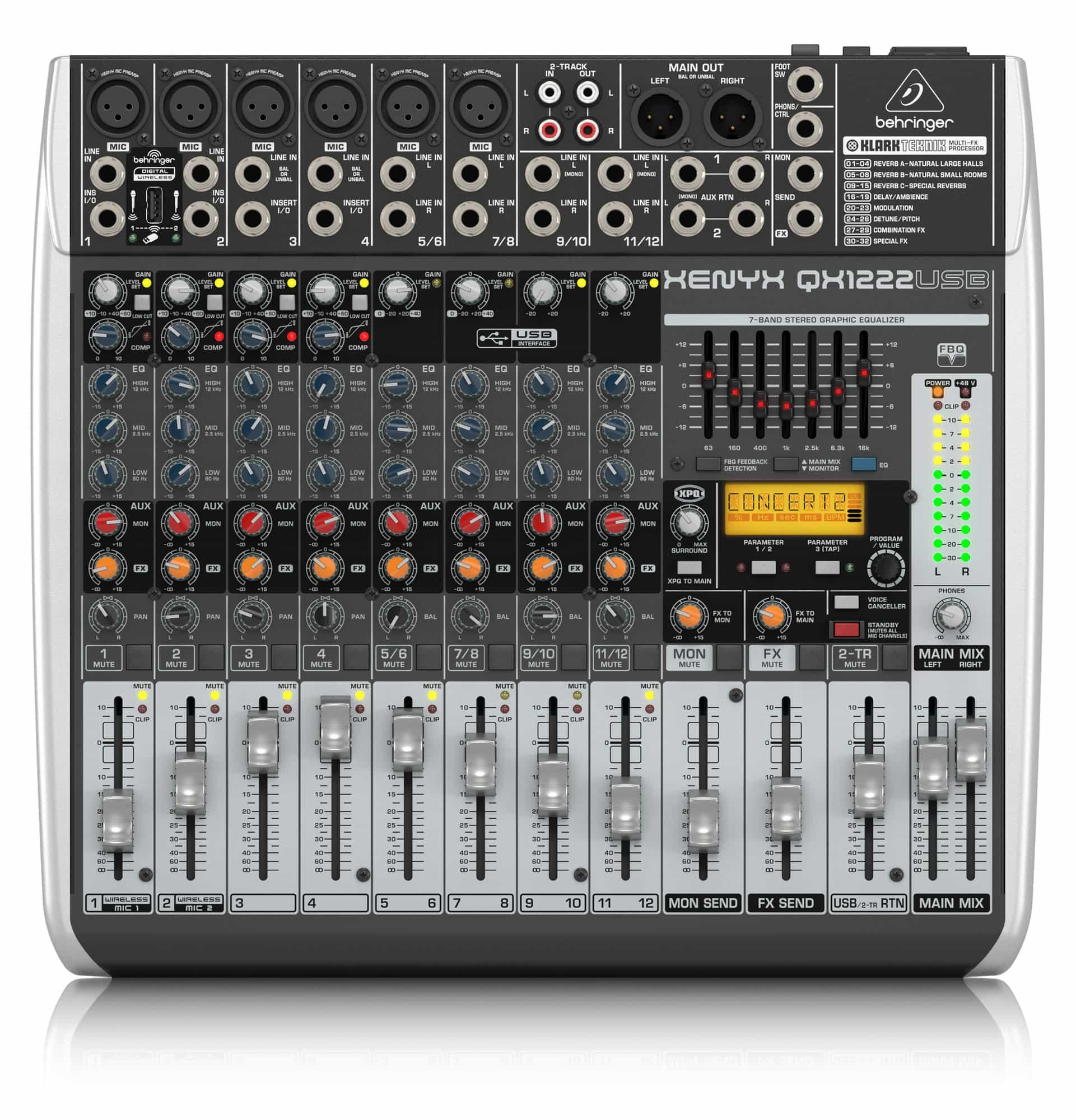 Mischpulte - Behringer Xenyx QX1222 USB Mischpult - Onlineshop Musikhaus Kirstein