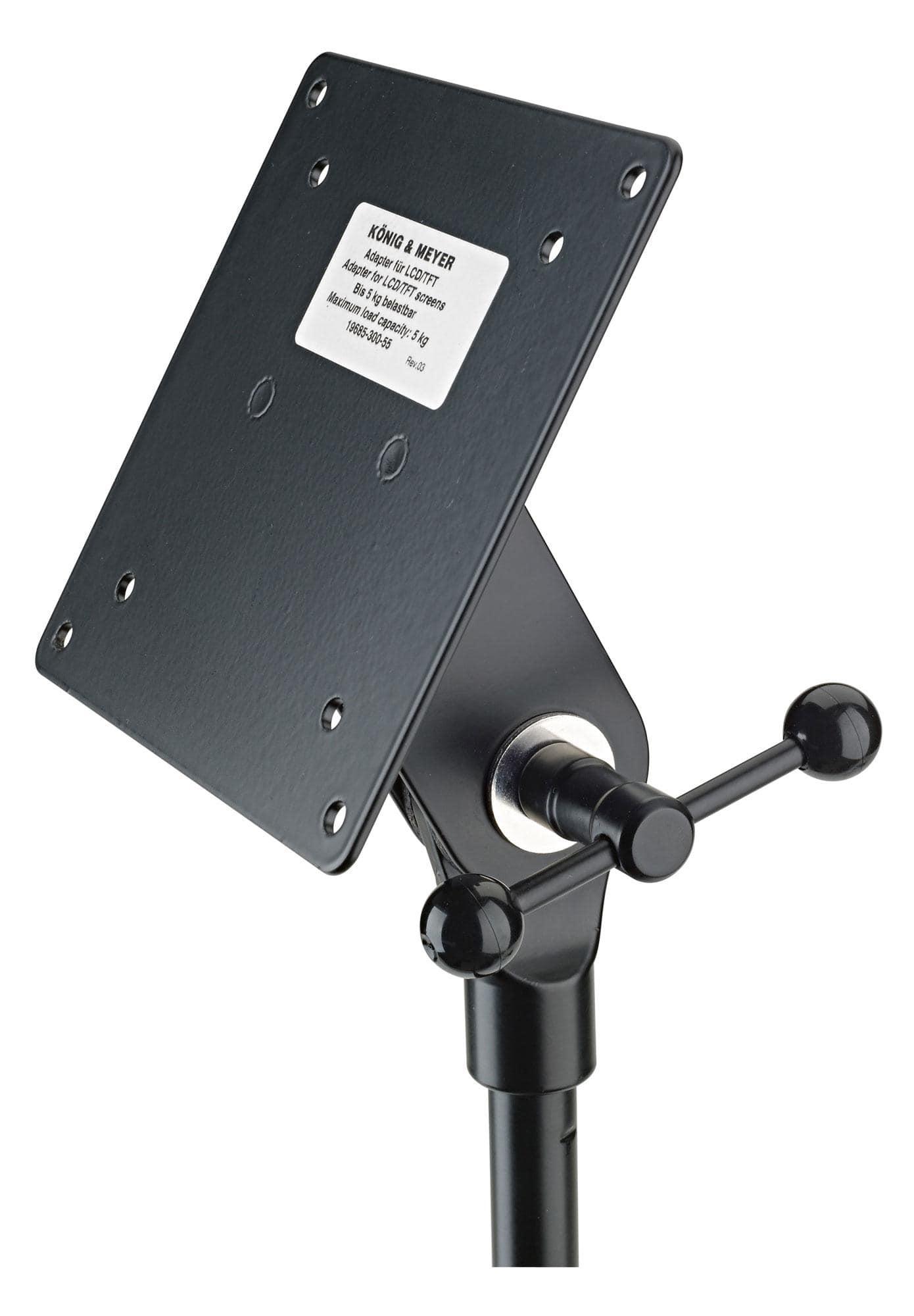 K M 19685 Adapter für Bildschirme Schwarz