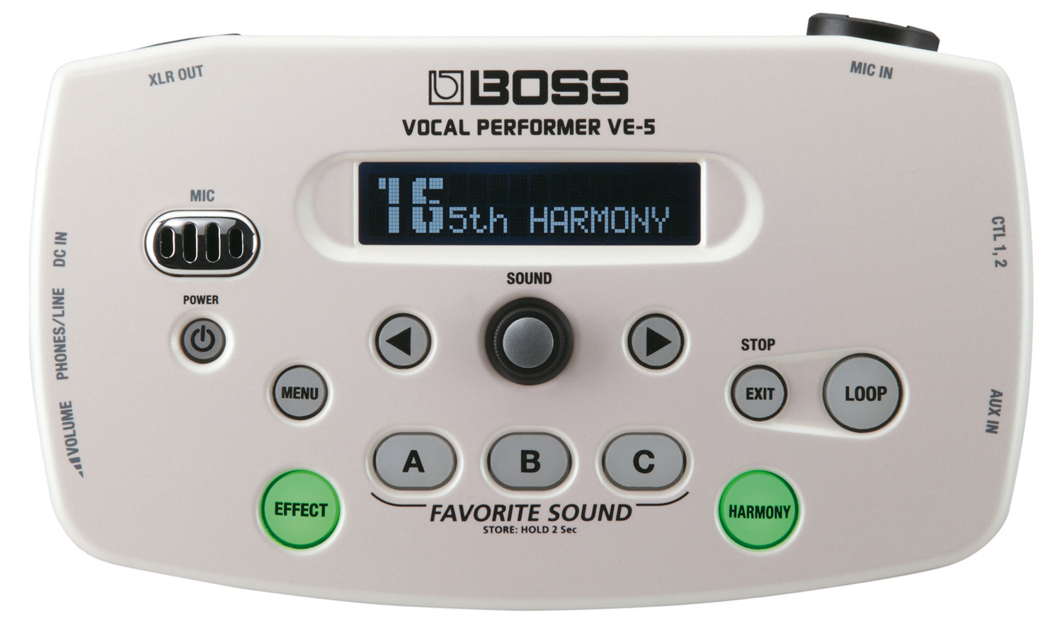Boss VE 5 Vocal Performer Weiß