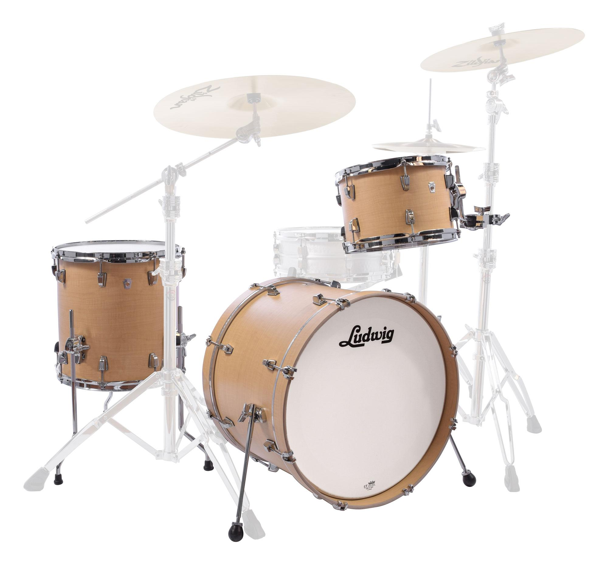 Ludwig L24023TX3Q NeuSonic Shellset Sugar Maple