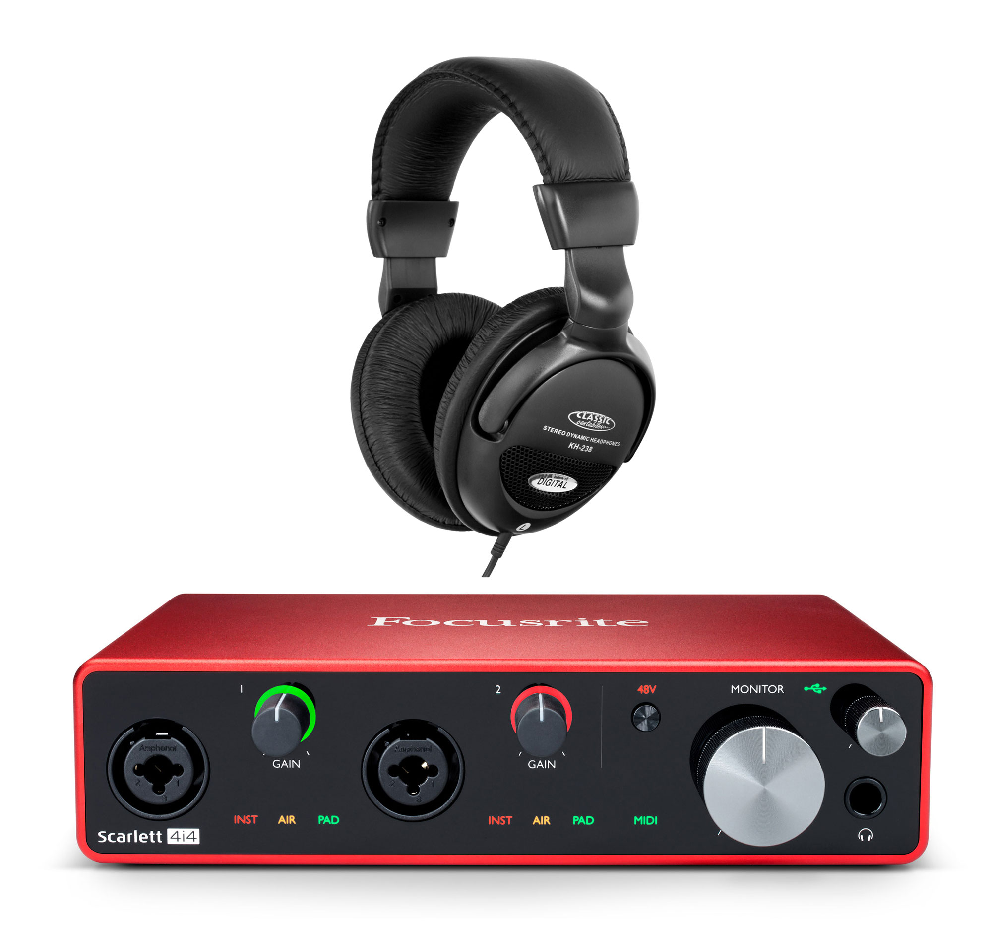 Pchardware - Focusrite Scarlett 4i4 USB Audio Interface Set - Onlineshop Musikhaus Kirstein