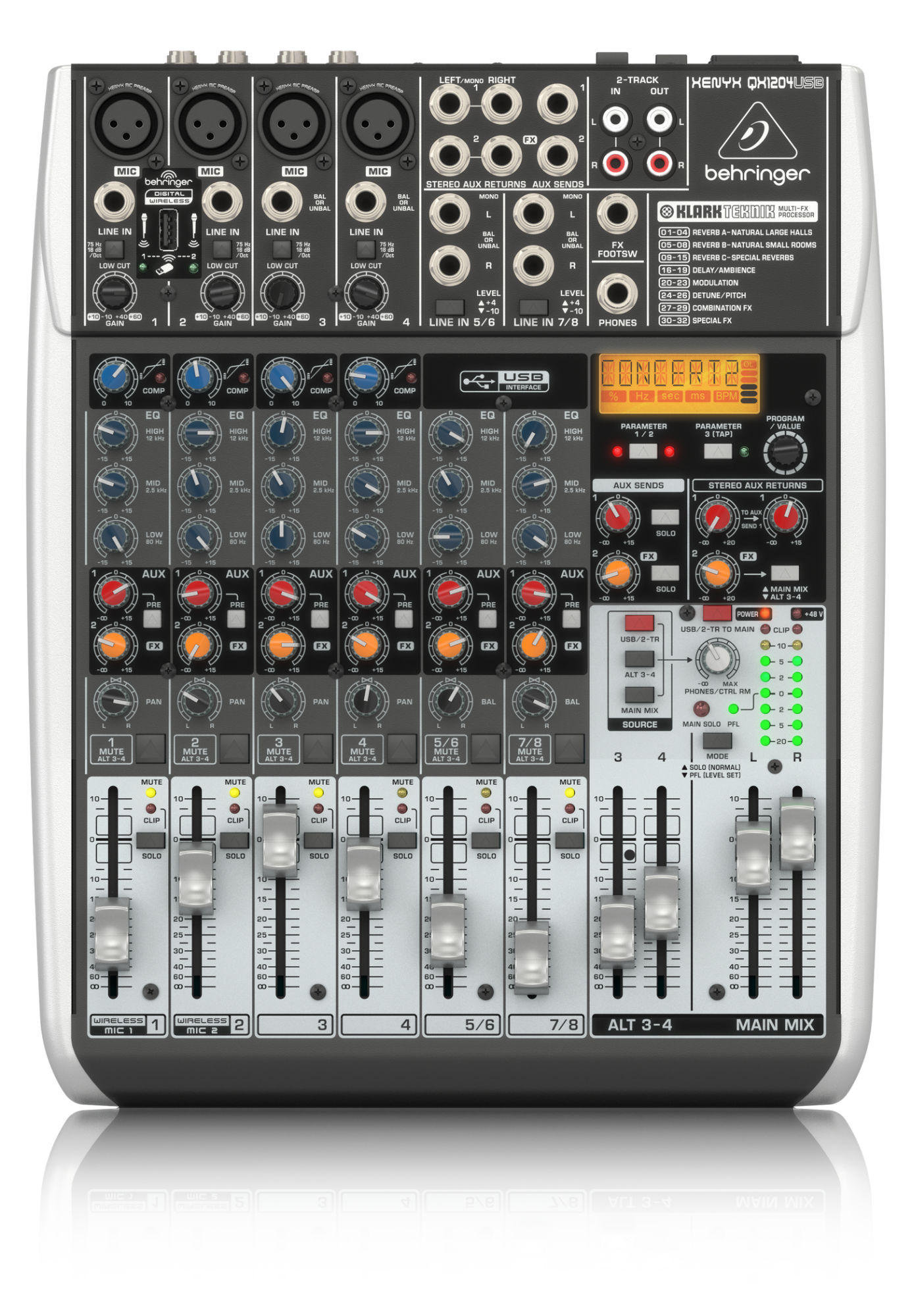 Mischpulte - Behringer XENYX QX1204 USB Mischpult - Onlineshop Musikhaus Kirstein