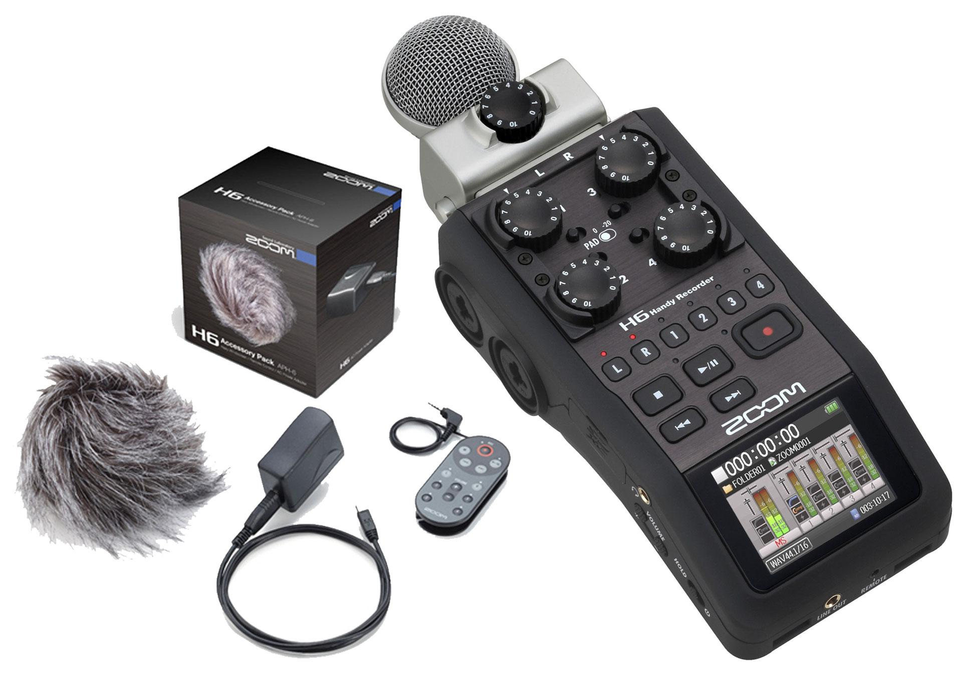Zoom H6 APH 6 portabler Recorder Set